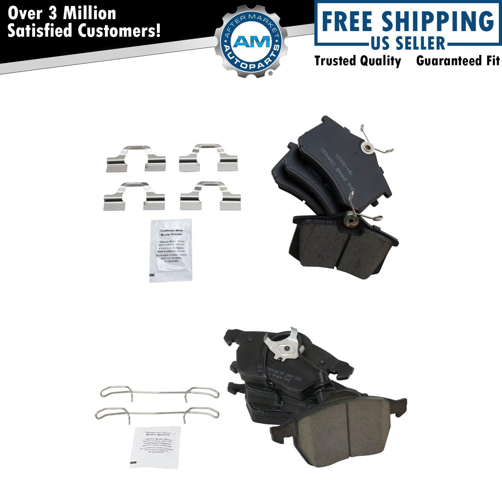 Nakamoto Front & Rear Ceramic Brake Pad Kit & For Audi A4
