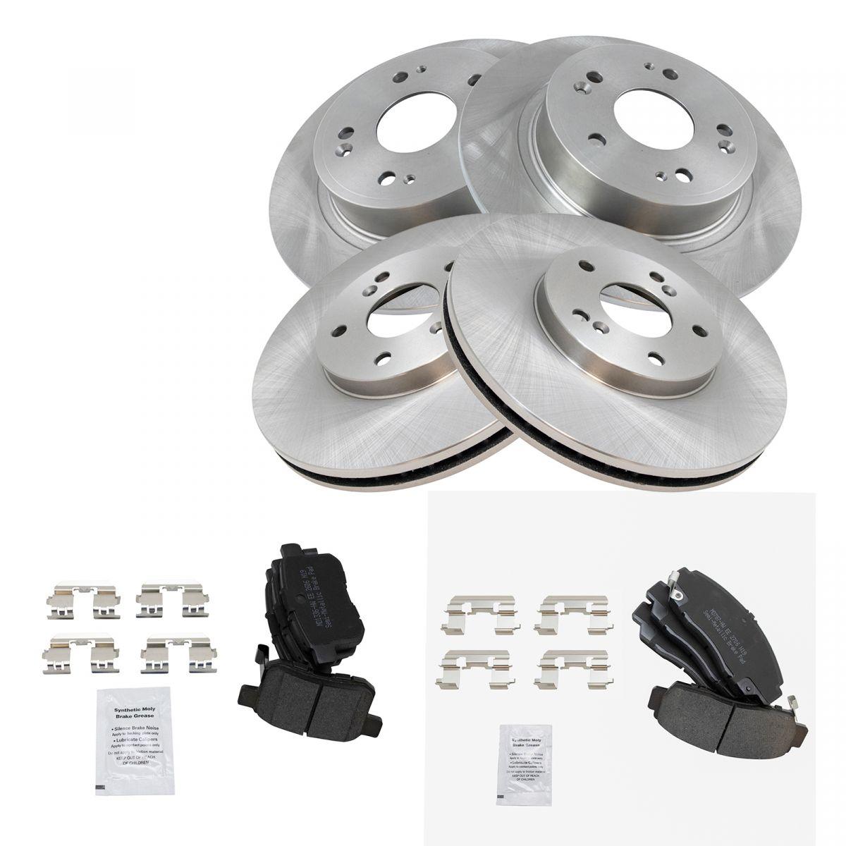 Rear Disc Rotors /& Semi-Metallic Brake Pads Kit For Acura TSX Honda Accord