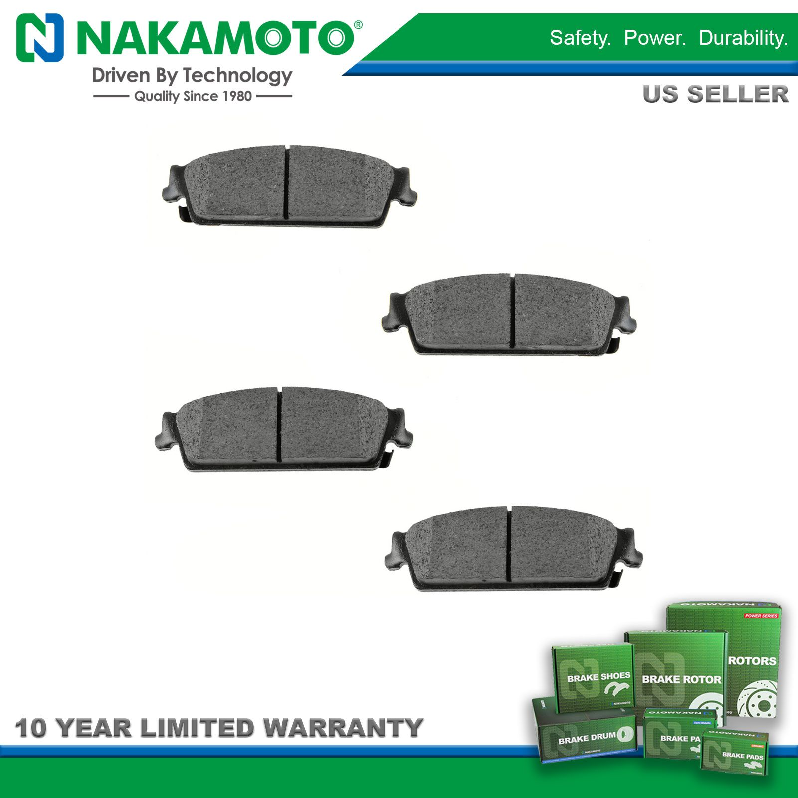 FRONT And REAR Ceramic Brake Pads For Ford Mustang 4.0L V6-4.6L V8