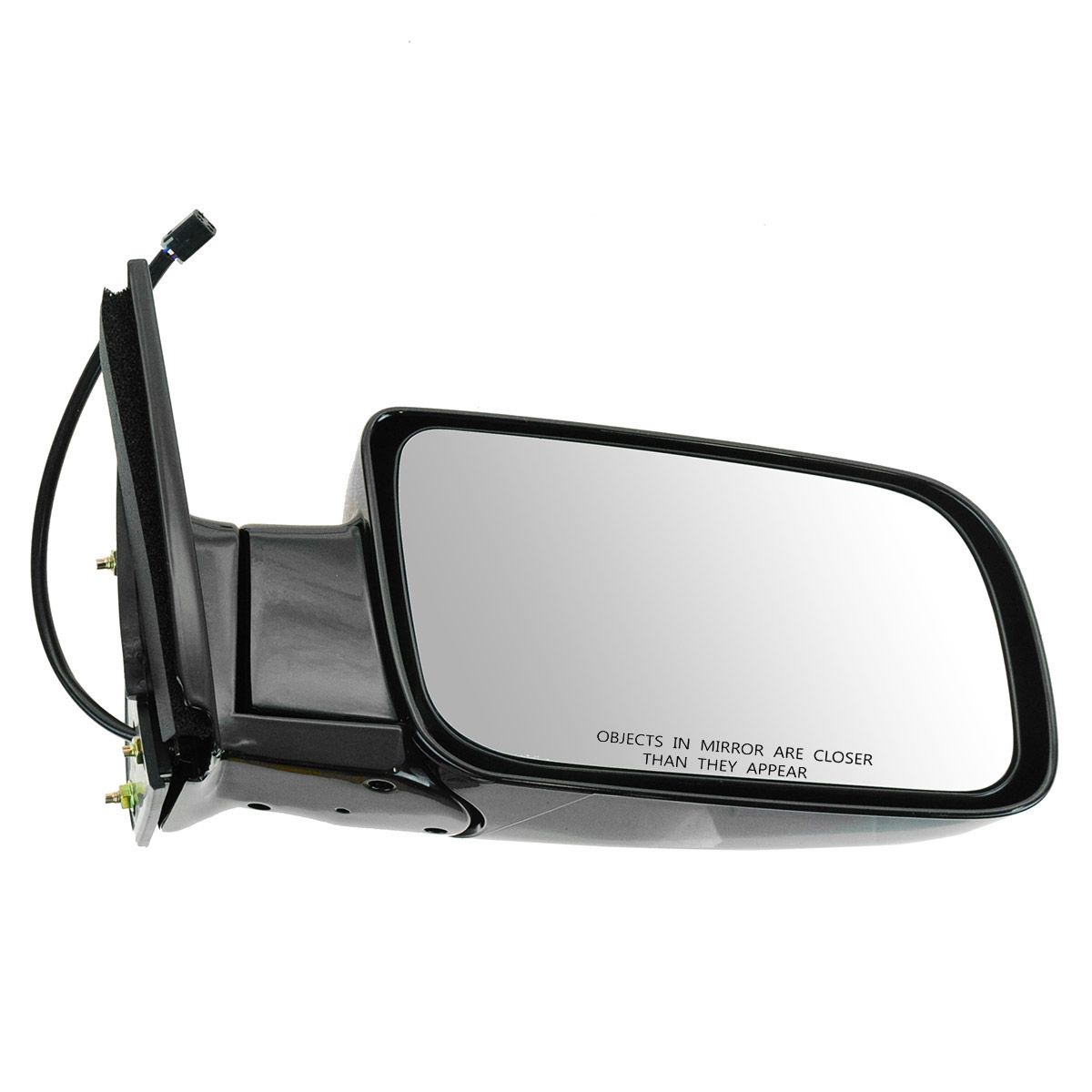 Mirror Side View Power Black Folding Passenger Right For