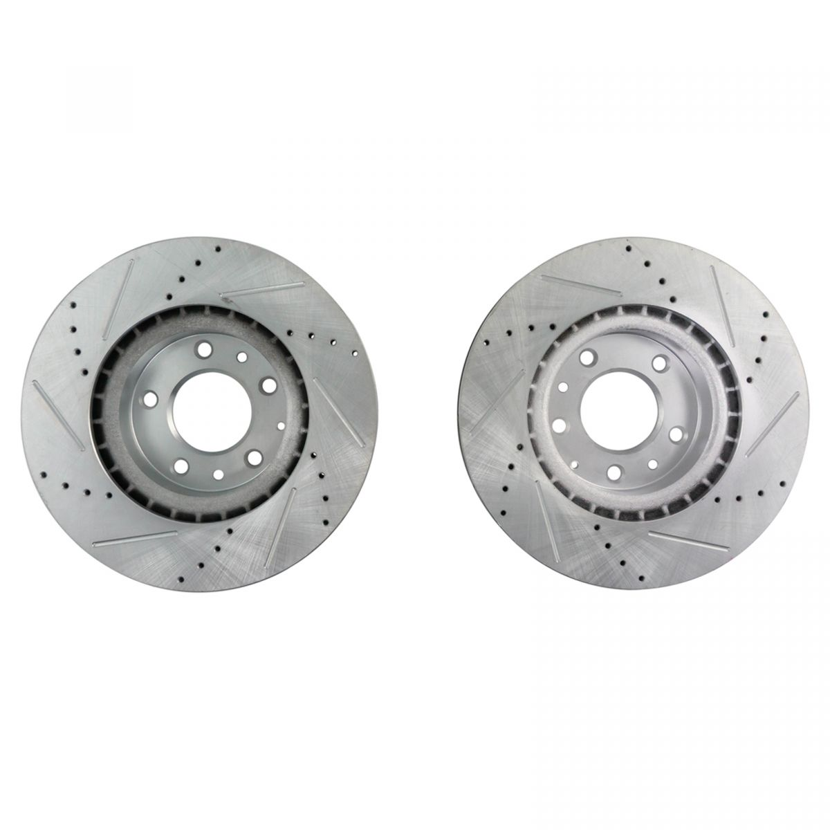 Front Disc Brake Rotor Driver /& Passenger Side LH RH Pair for Ford Mustang New