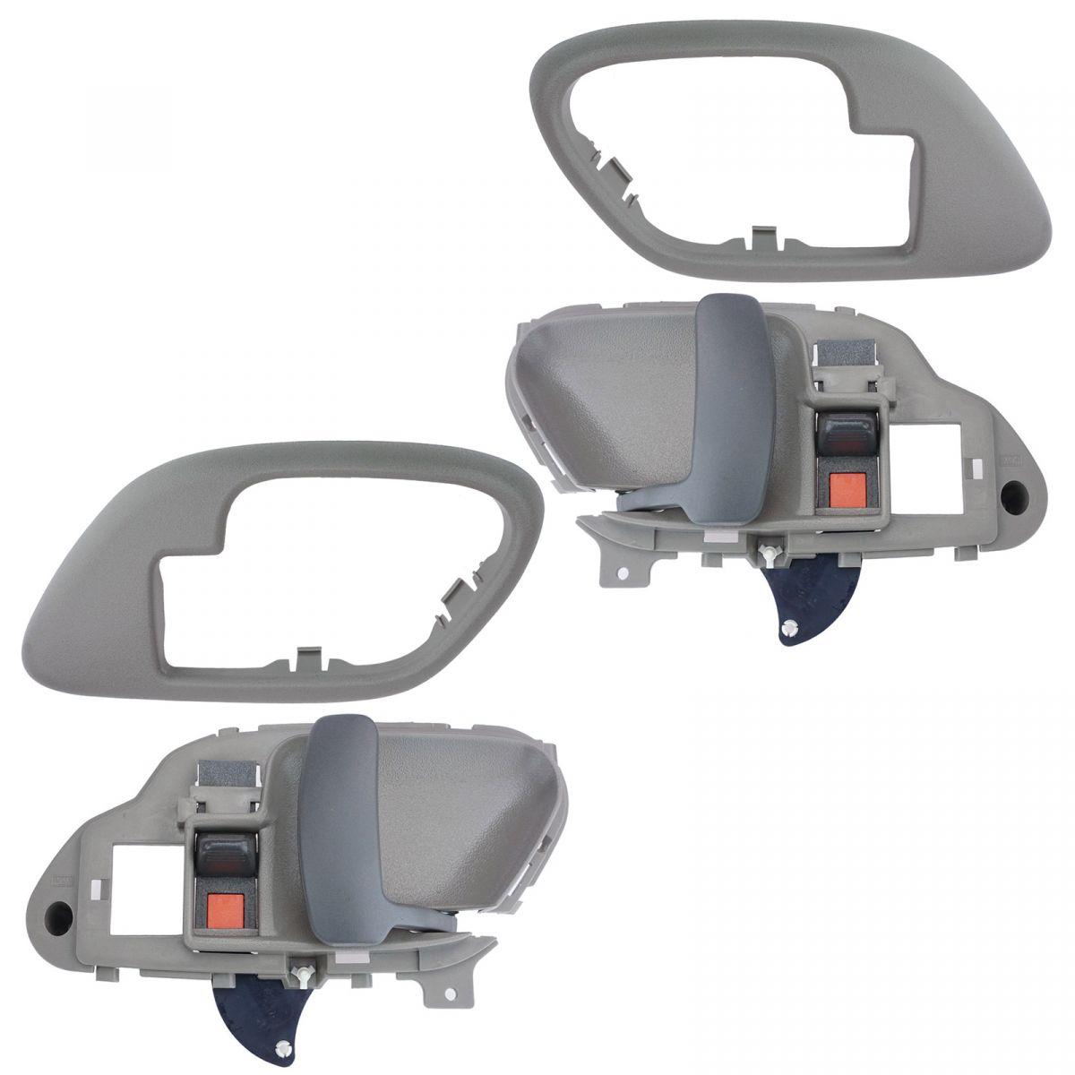 Gray Interior Inside Door Handle w// Bezel Passenger Right RH for C//K Pickup