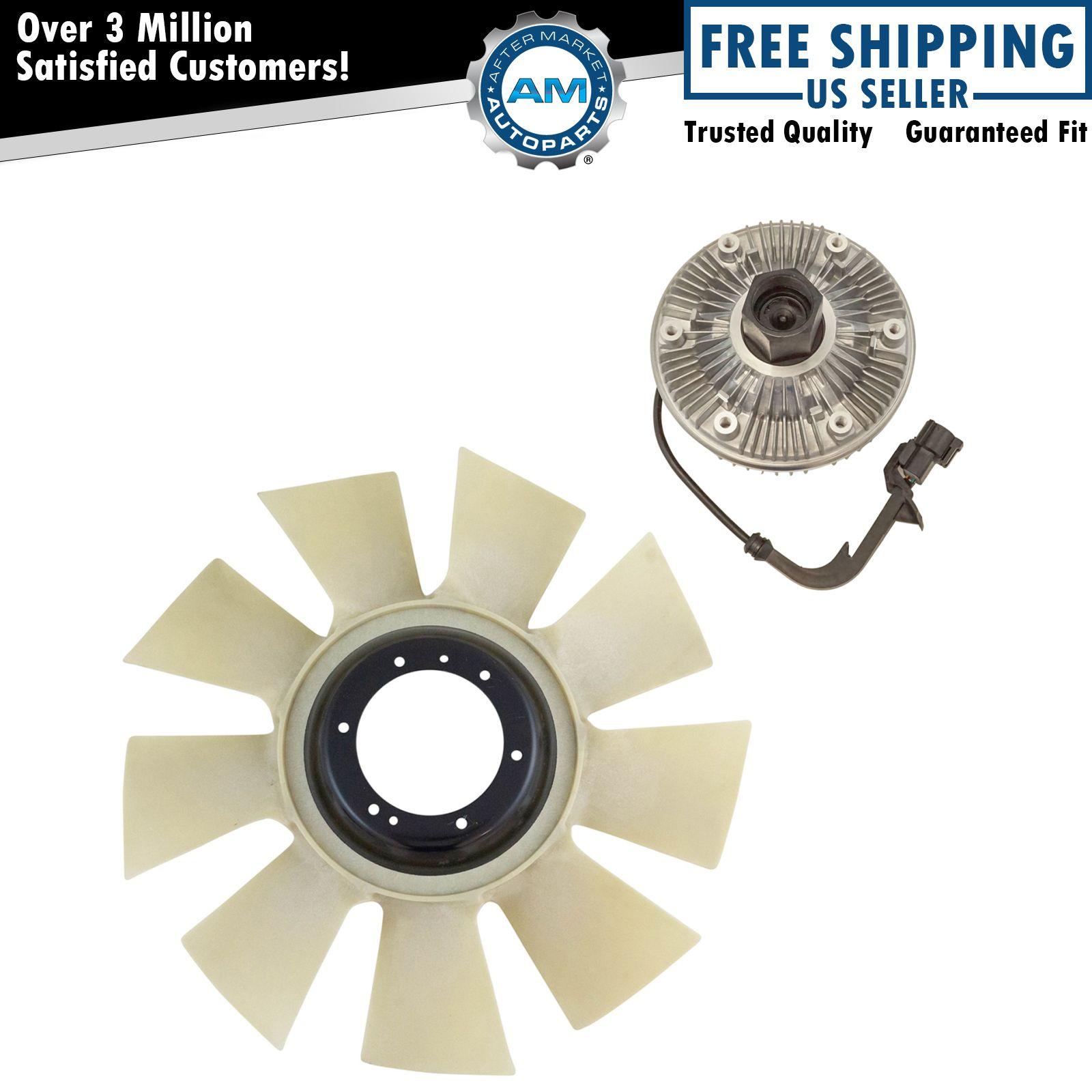 Radiator Fan Clutch Blade Kit Set For Ford Super Duty 6 0l Powerstroke Diesel Ebay
