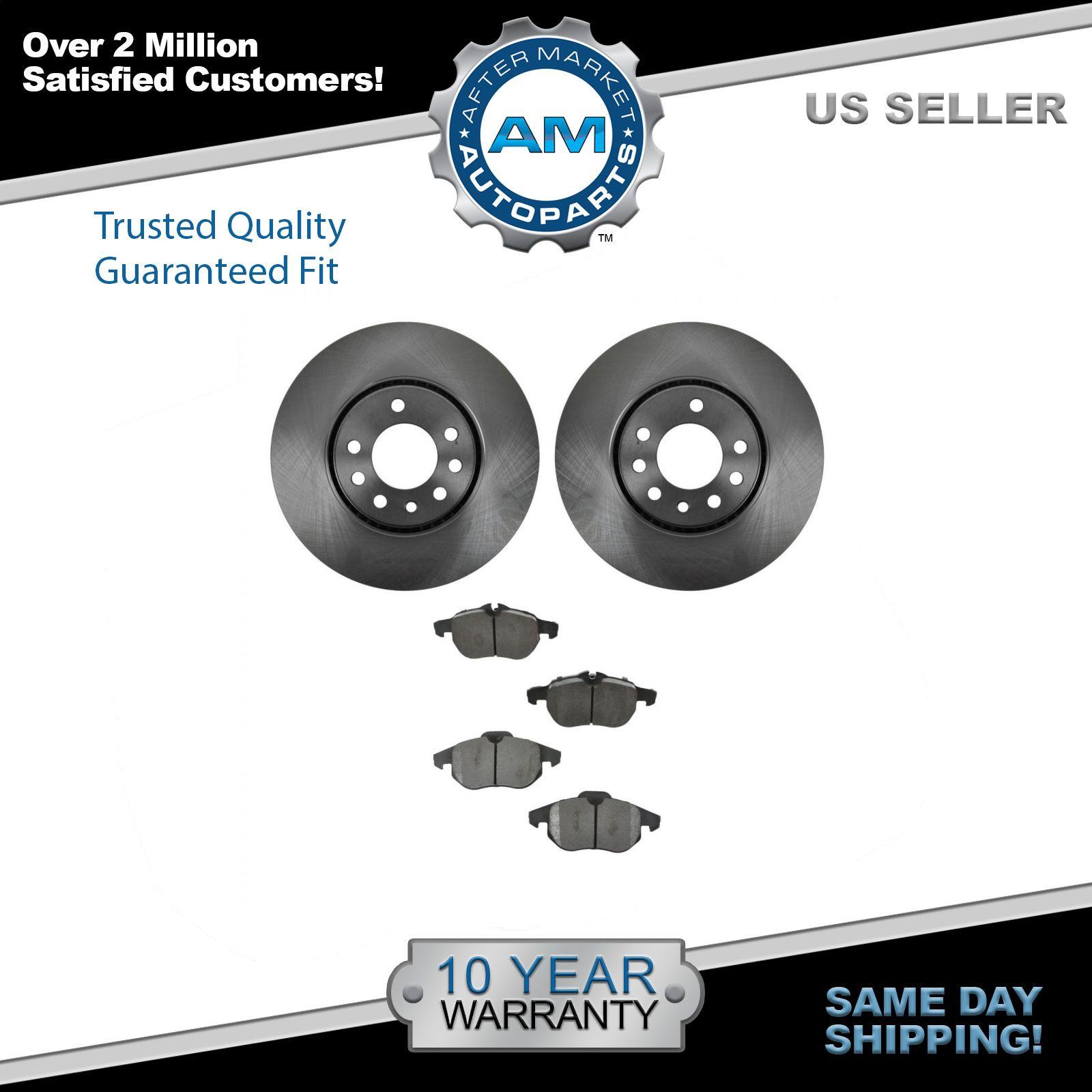 Front Semi Metallic Disc Brake Pads Driver /& Passenger Set Kit for Saab 9-3