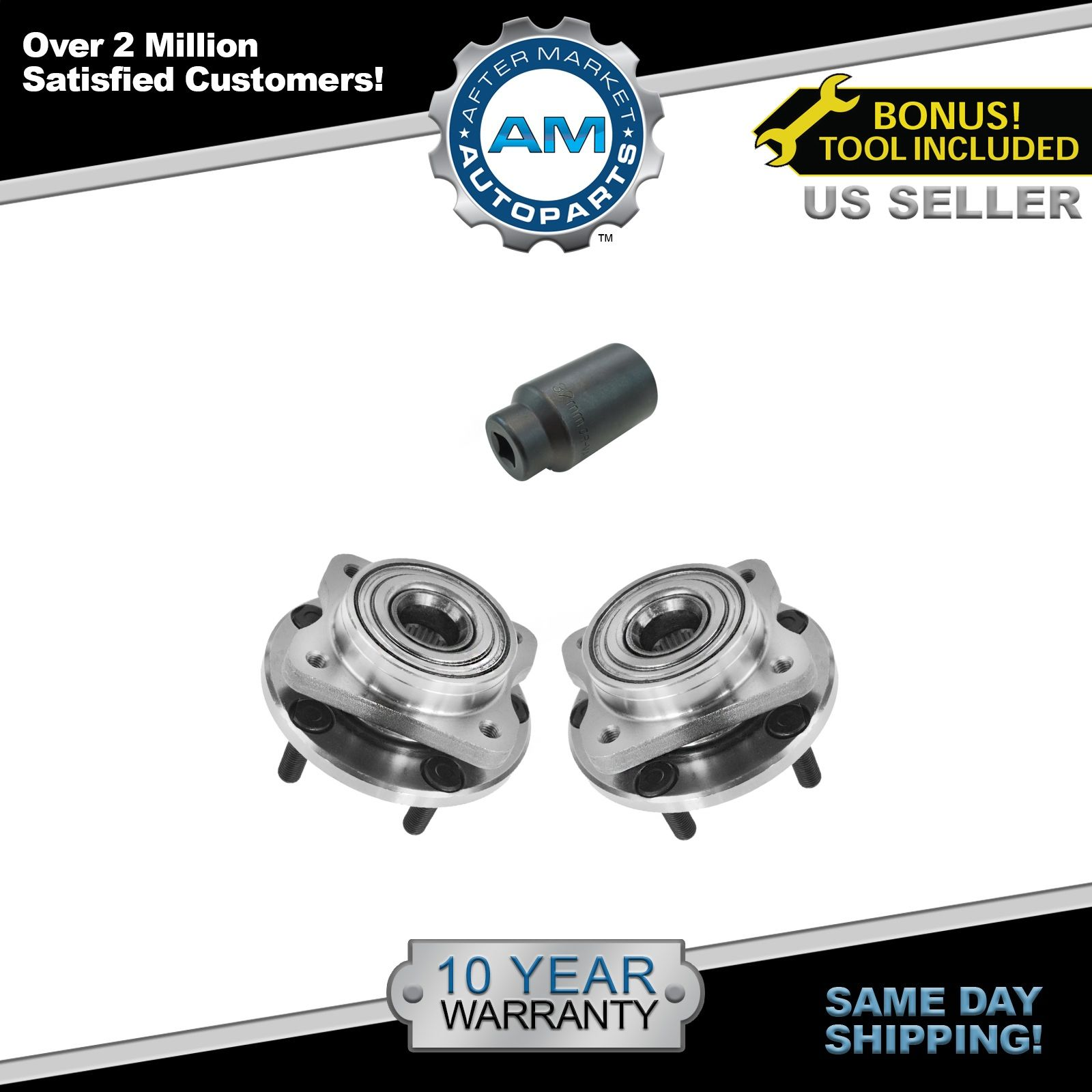 One Bearing Included with Two Years Warranty 2015 fits Chrysler 300 Front Wheel Bearing and Hub Assembly Note: AWD