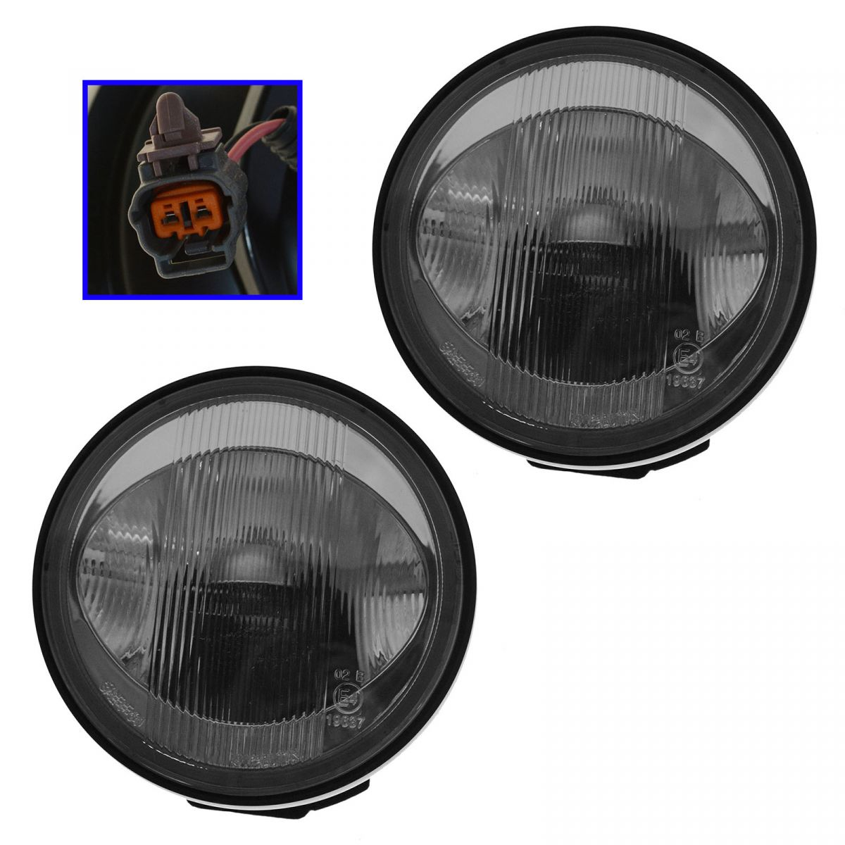 Fog Driving Lights Lamps Left & Right Pair Set Kit for 01-03 Mazda Protege
