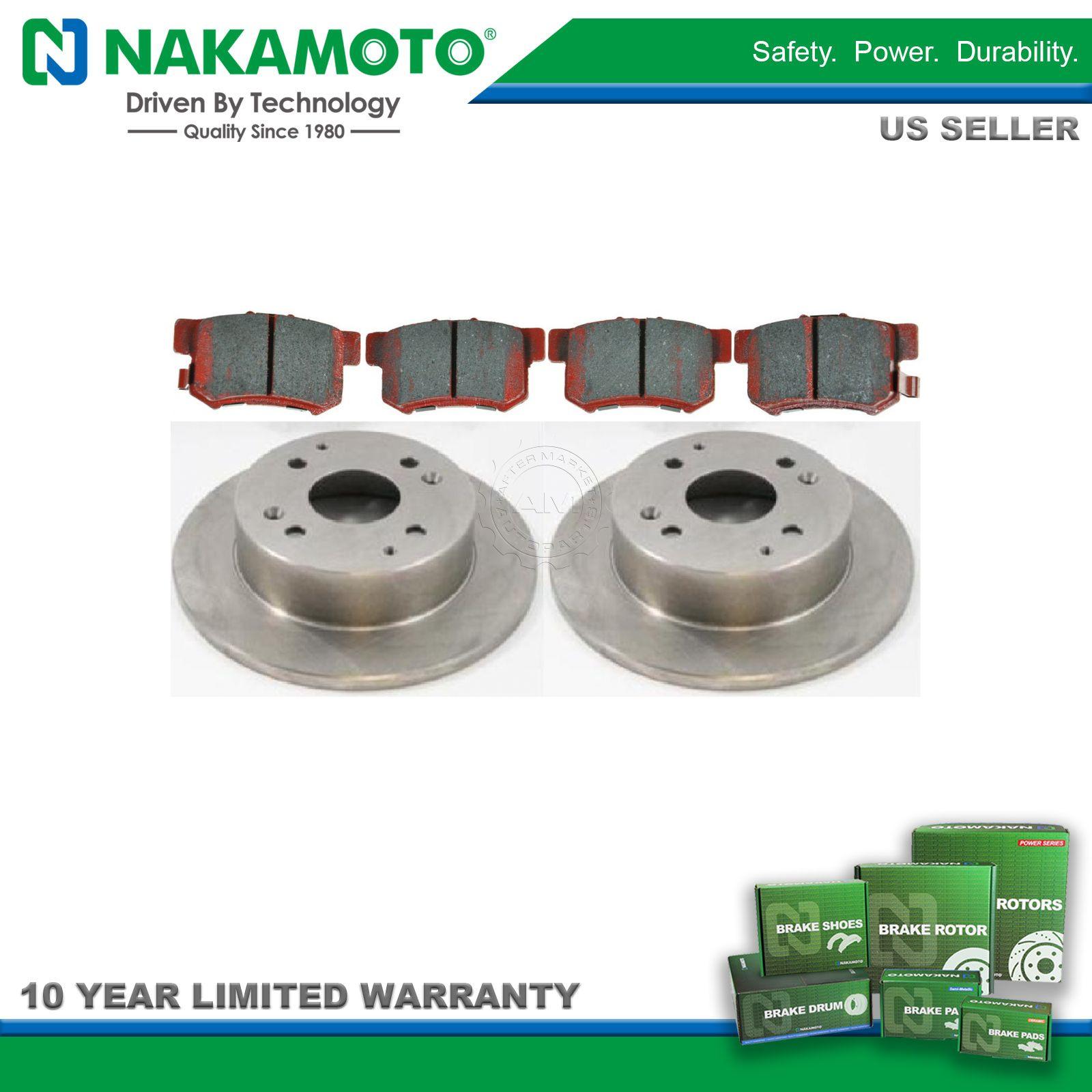 Nakamoto Ceramic Rear Brake Pad & Rotor Kit for Acura CL Honda Accord NEW