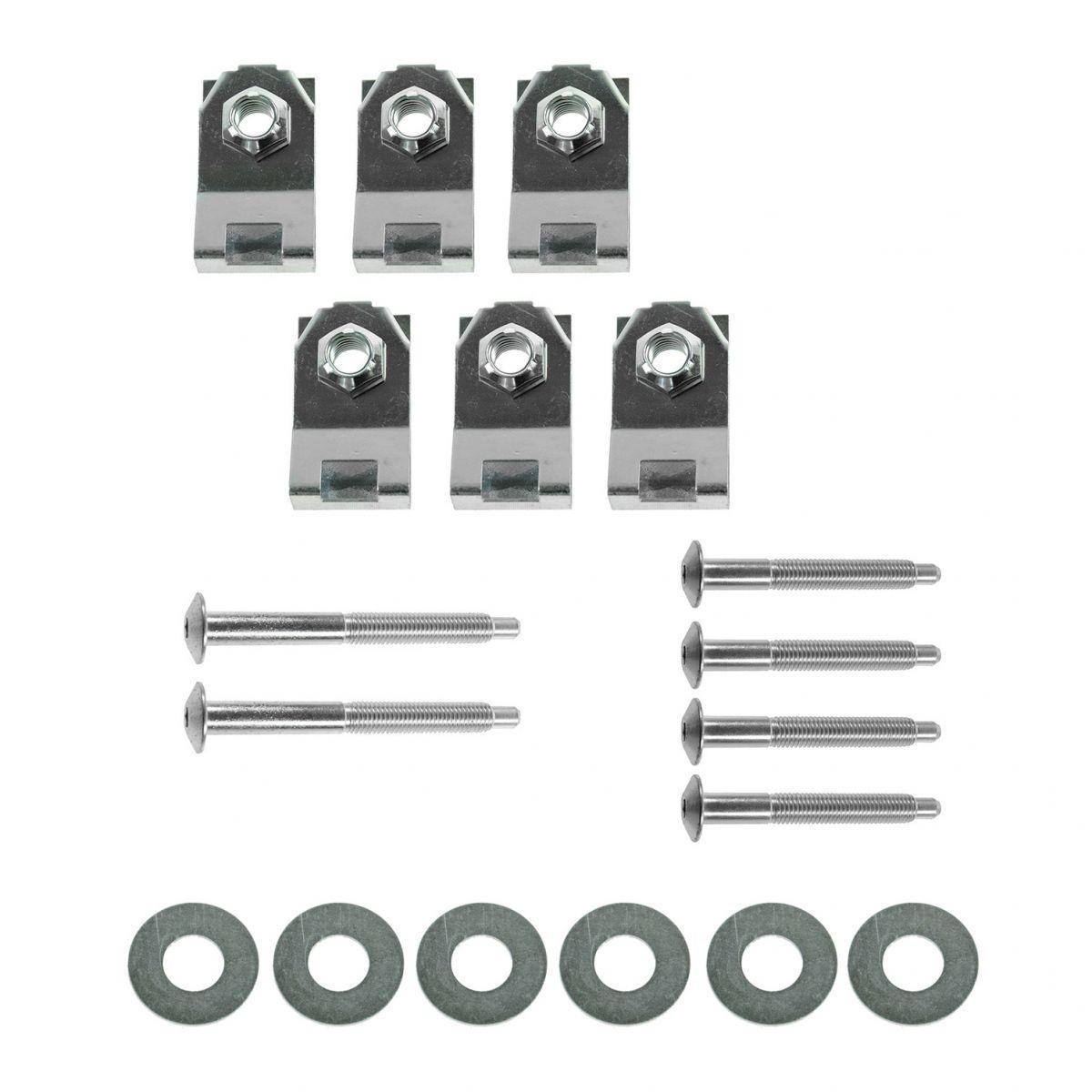 Threaded rivets bolts washers M4 kit for Fender Flares Installation Tekit6 12pcs