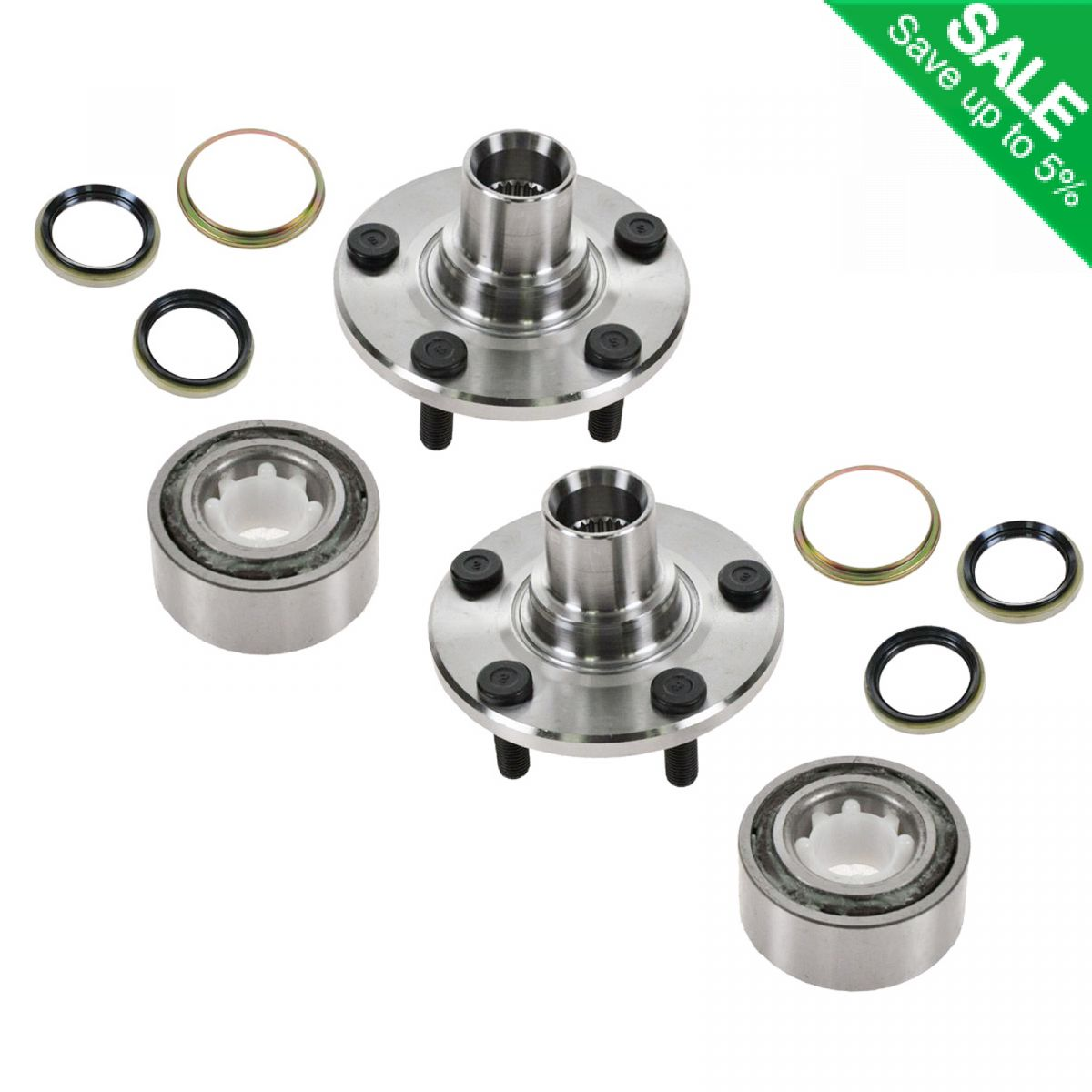 2019 Toyota Camry Hub Bearing Assembly Rear Axle Left: Front Wheel Hub & Bearing Repair Kit Pair Set For Toyota