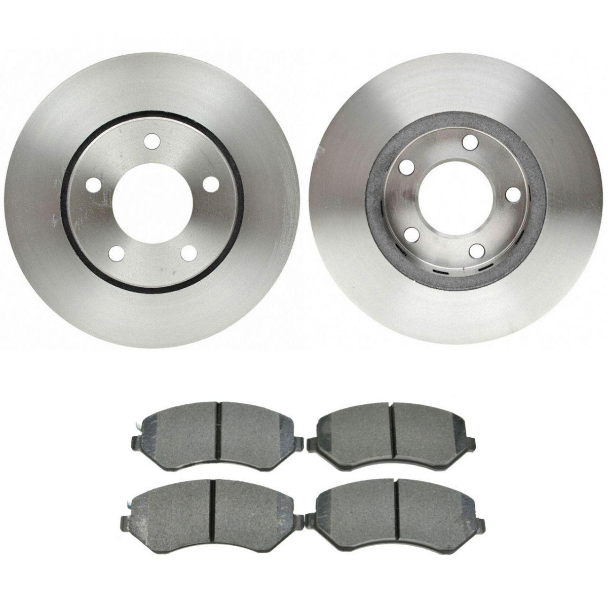 Front Disc Brake Pad /& Rotor Kit Set RAYBESTOS for Caravan