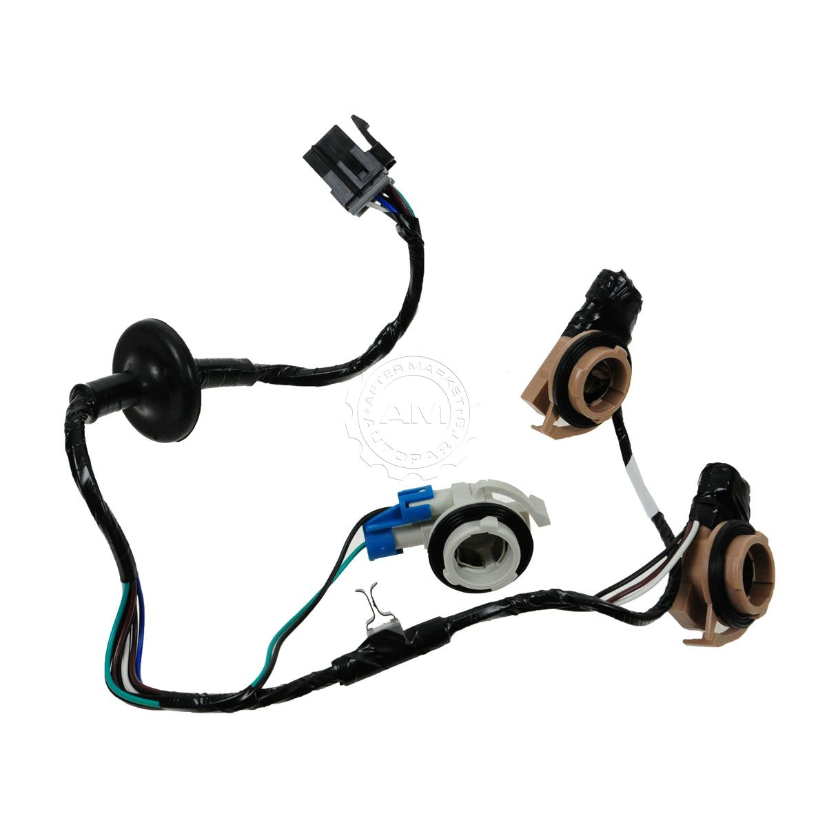 AM 3275376770 dorman 3 socket taillight taillamp wiring harness for chevy  at crackthecode.co