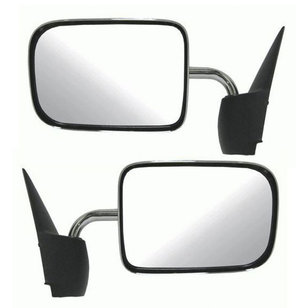 94-97 Ram Pickup Truck Manual Black Rear View Mirror Left /& Right Side SET PAIR