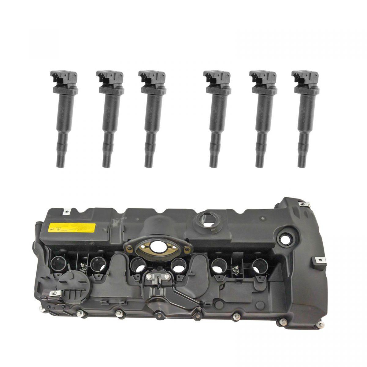 Engine Valve Cover Gasket & Ignition Coil Packs Kit Set