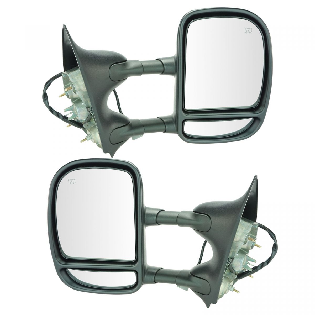 1953-1966 Ford Truck Pickup Chrome Outside Rear Mirrors Rear view Set Pair