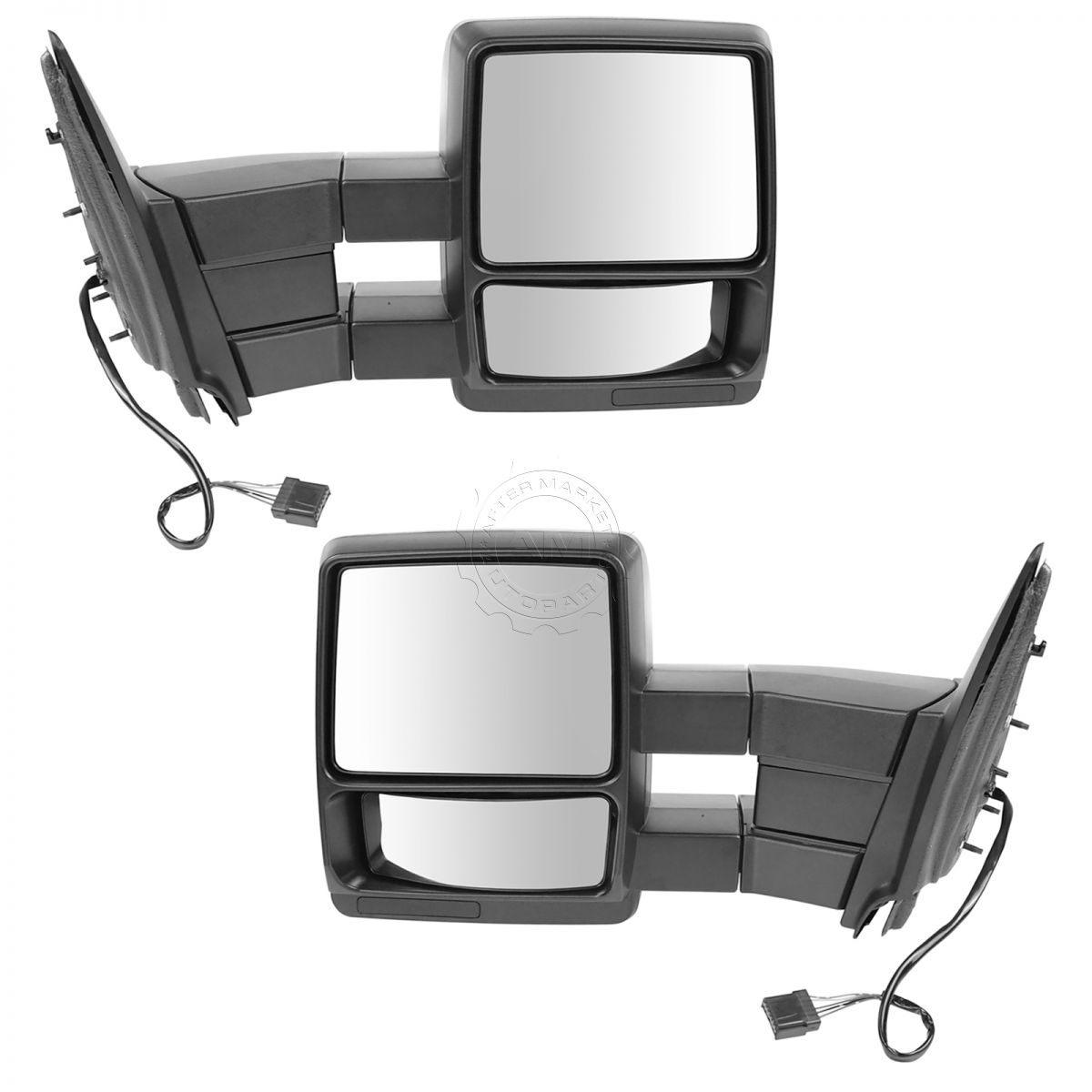 Tow Mirror Power Heated Textured Black Pair Set For 98 02 Ford 2003 Chevy Wiring Diagram Expedition New