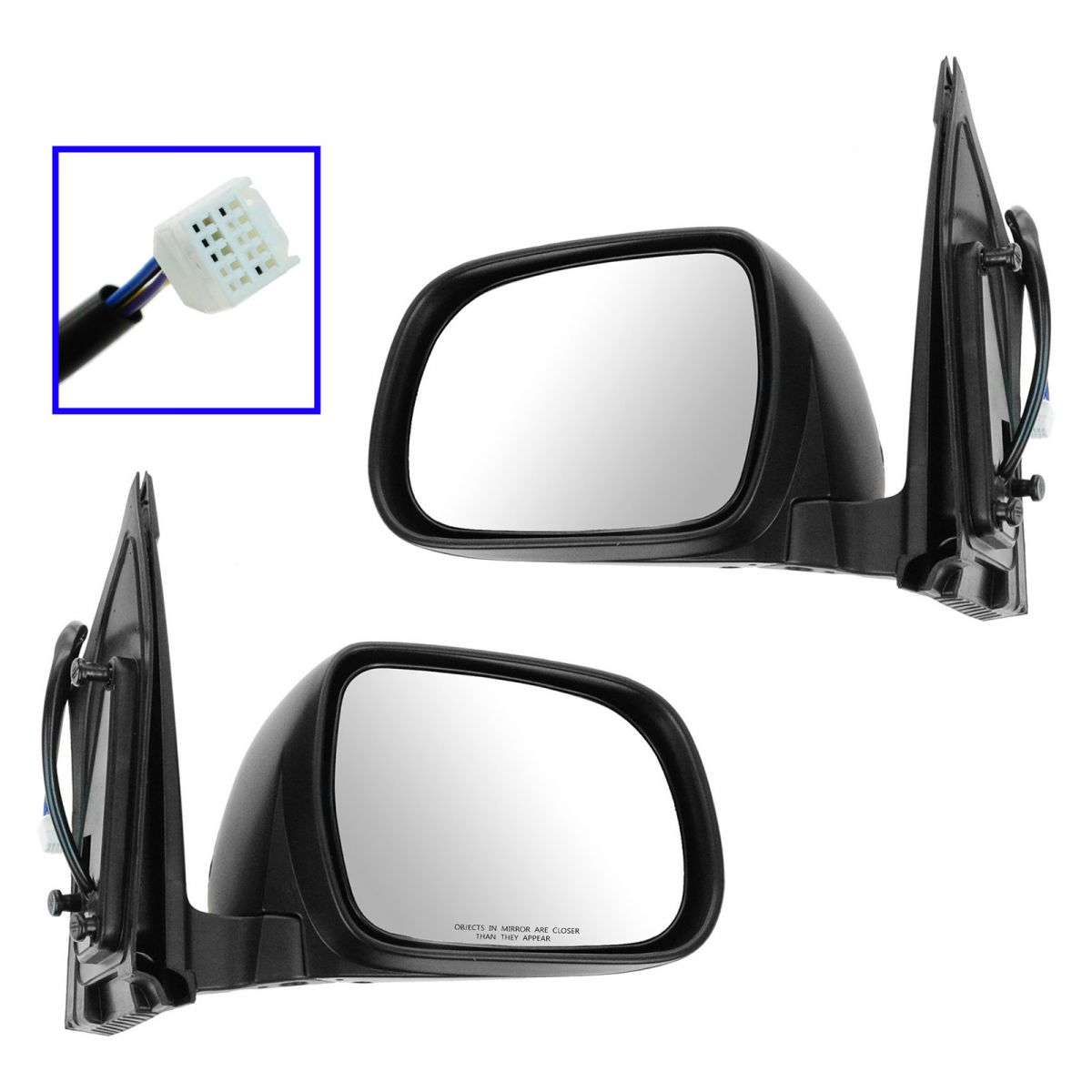 Hyundai Tuscon Wing Mirror Gl ass,Right Hand Side,2004 to 2018
