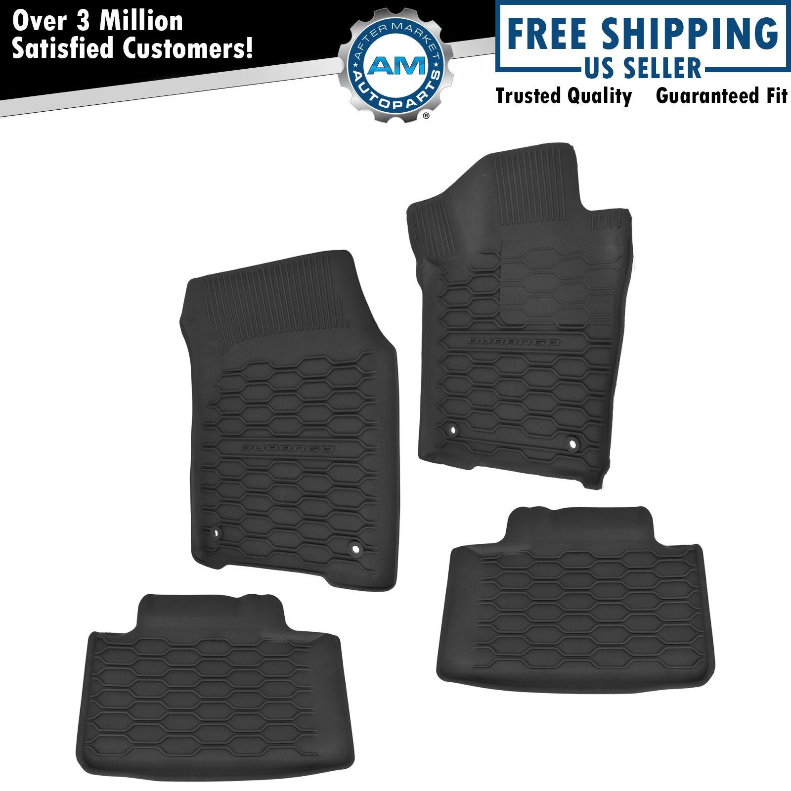 OEM Floor Mat Black Rubber Kit Set Of 4 For Dodge Durango