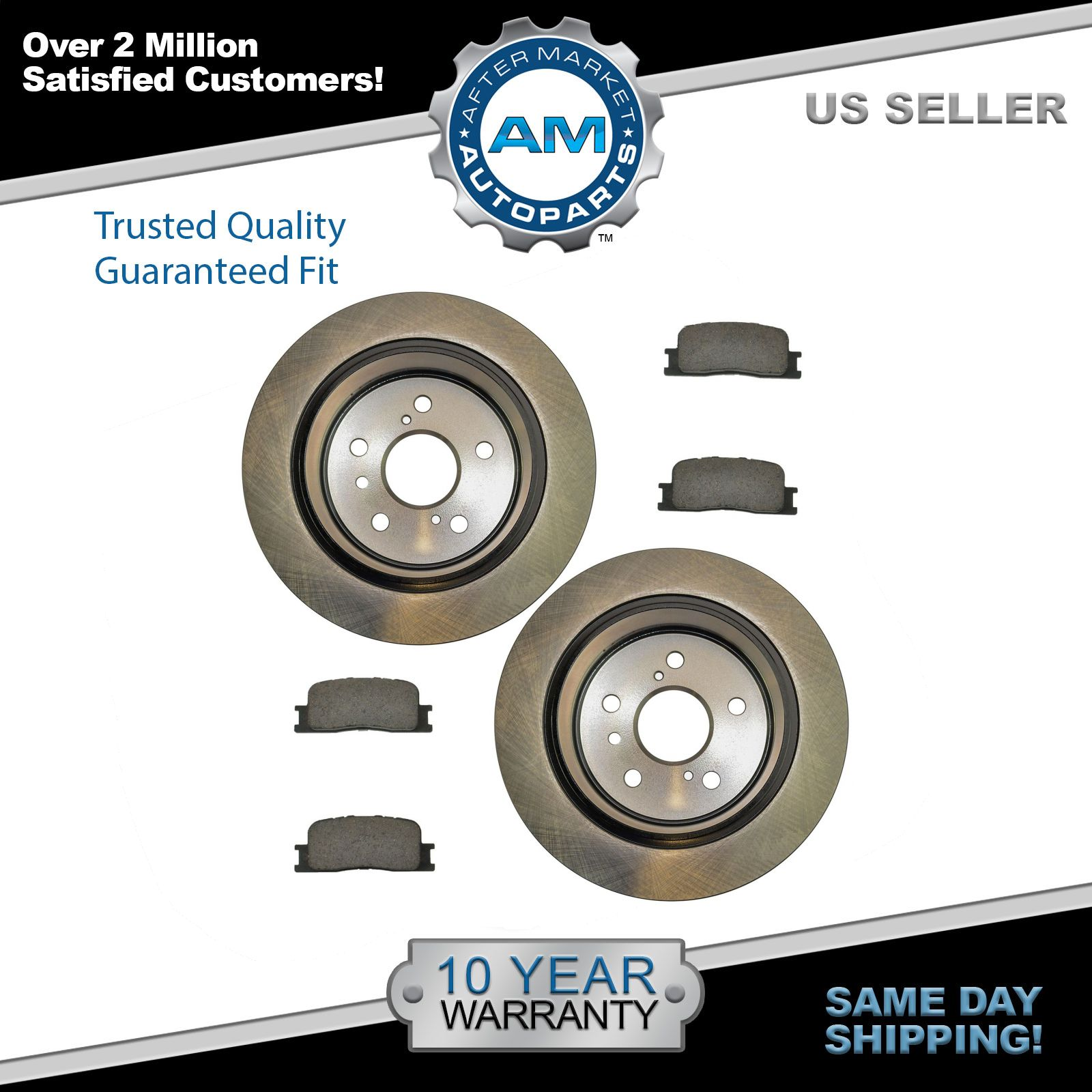 Rear 345 mm Brake Rotors And Ceramic Pads For Land Cruiser LX570 Sequoia Tundra