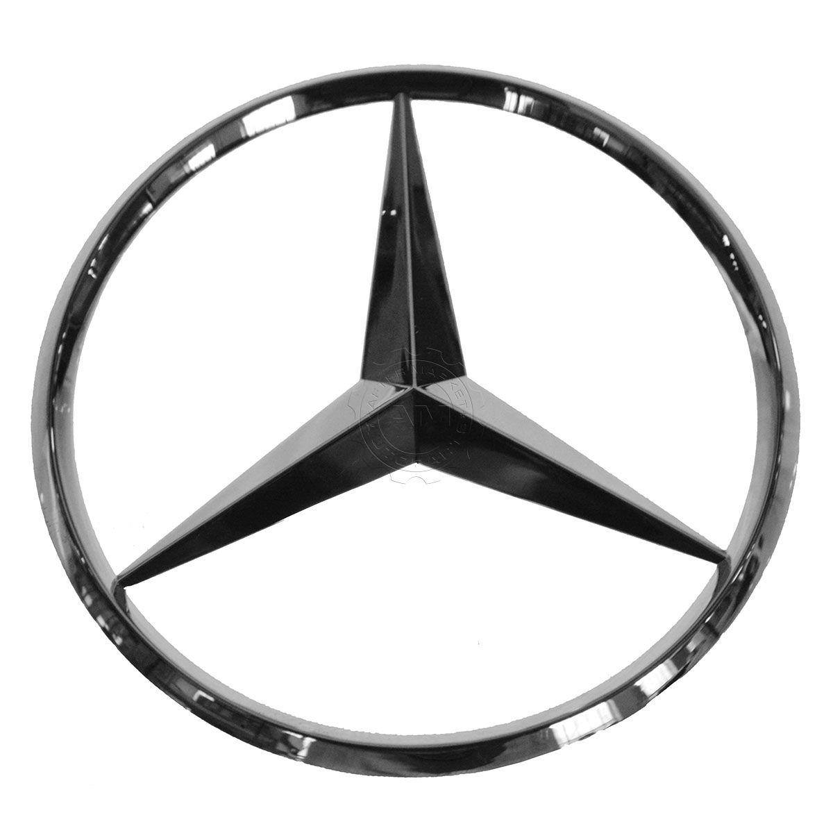 Oem trunk emblem badge chrome for mercedes benz ebay for Mercedes benz oem replacement parts