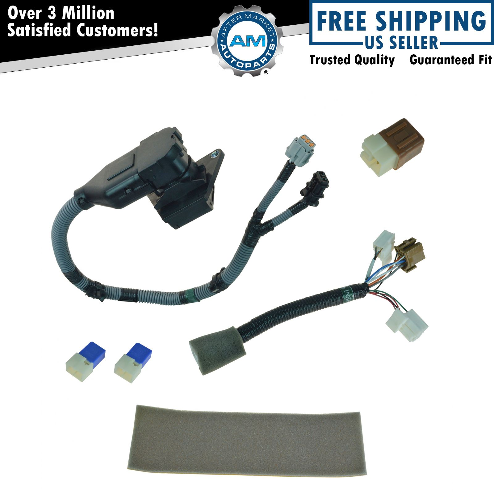 AM 345652165 oem 999t8br020 complete 7 pin plug & play tow harness kit for nissan frontier 7 pin trailer wiring harness at creativeand.co