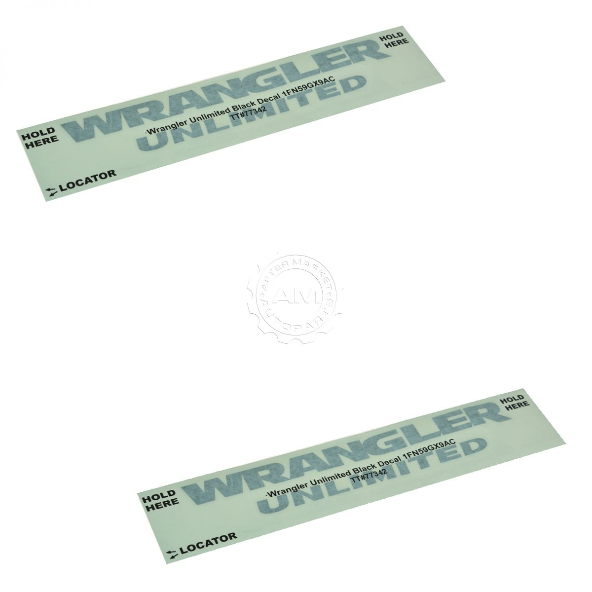 OEM 1FN59GX9AC Wrangler Unlimited Fender Decal Gloss Black Pair Set for Jeep New