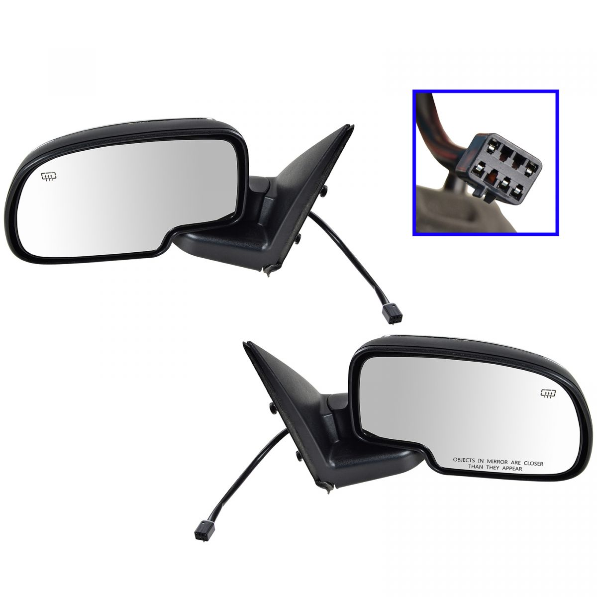 Power Heated Side View Mirrors Folding Left /& Right Pair Set for Chevy GMC