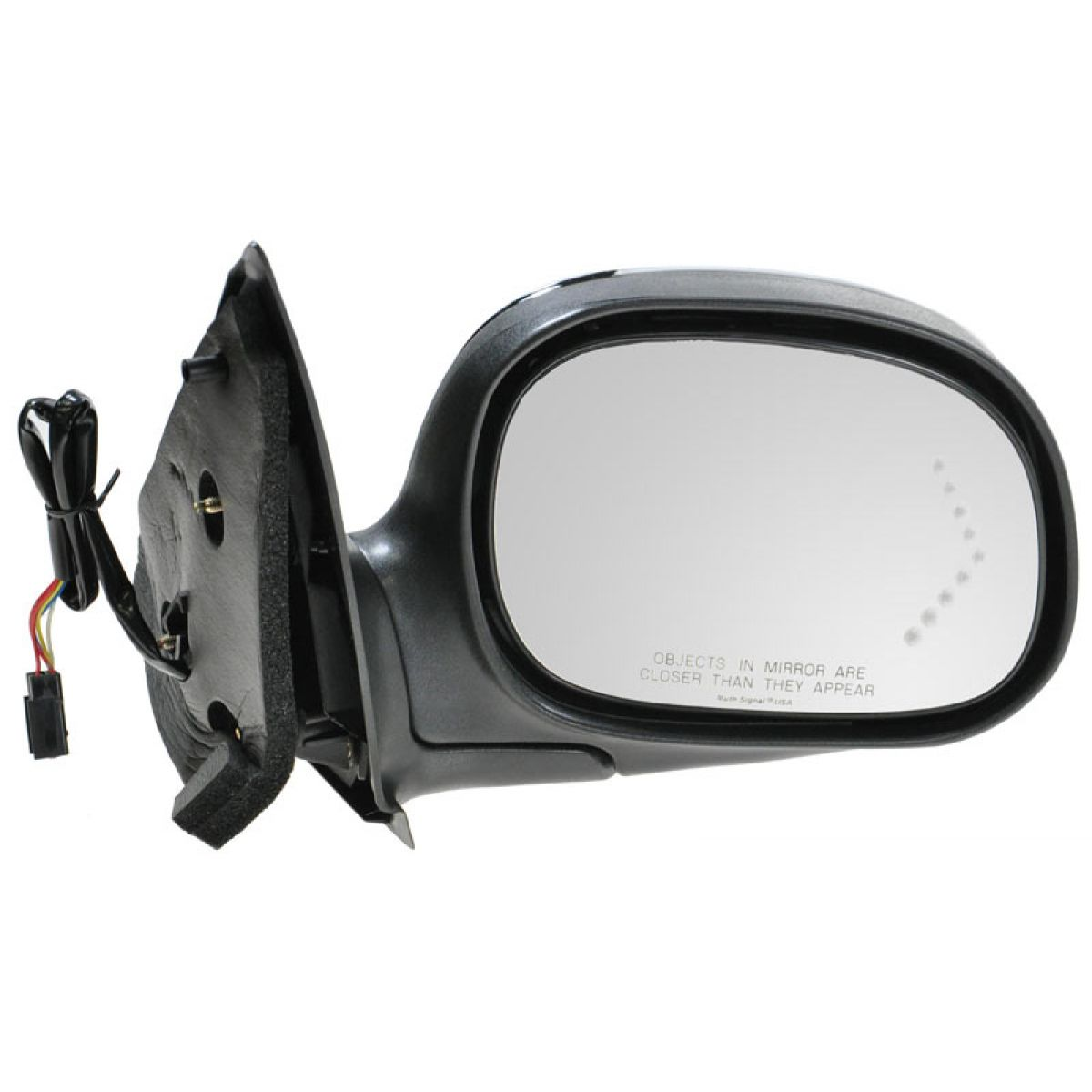 Mirror Side View Power Signal Chrome Passenger Side Right