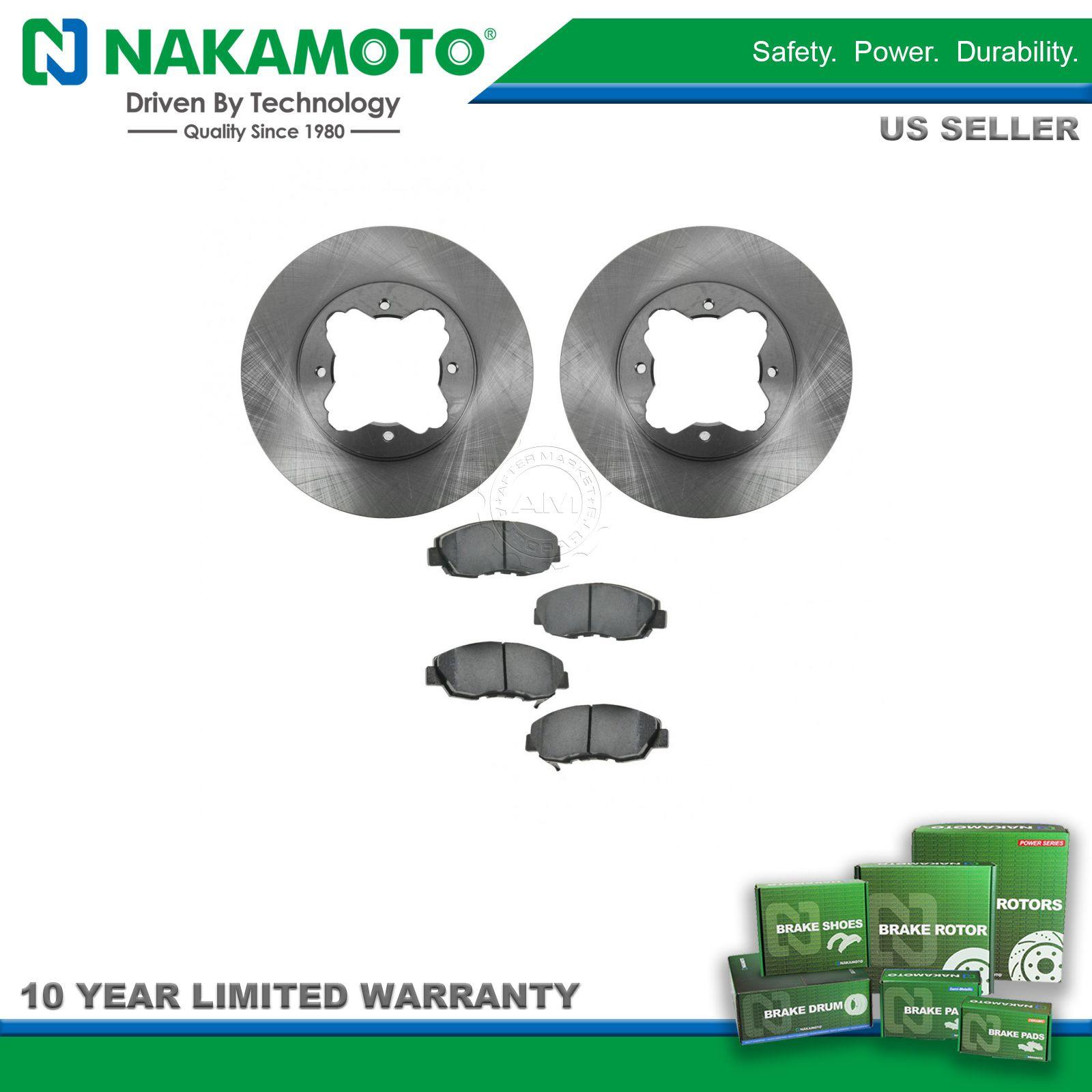 Nakamoto Front Disc Premium Posi Ceramic Brake Pads & Rotors Kit for Acura  Honda