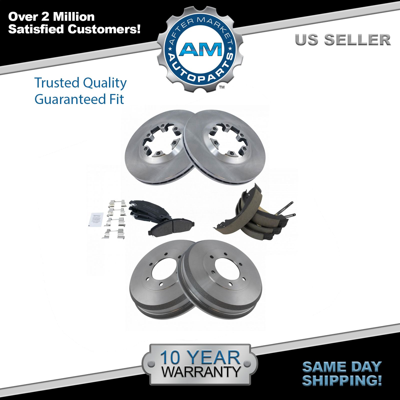 Nakamoto brake shoes drums pad rotor complete kit for chevy isuzu pickup truck
