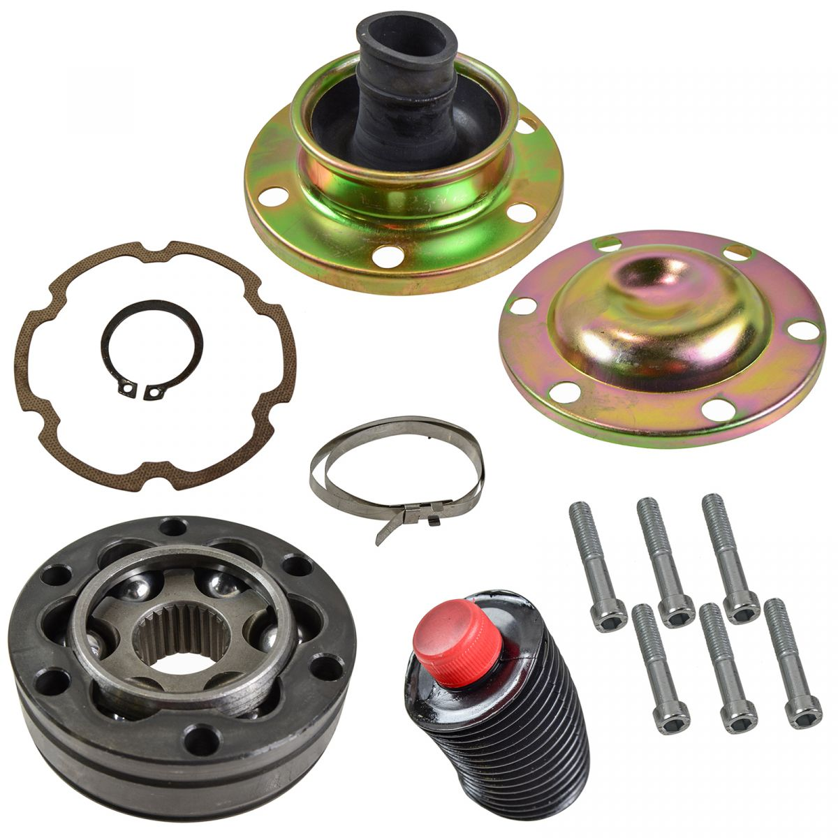 For Jeep Wrangler 2000 2006 Replace 2a34 Remanufactured: Front Driveshaft Rear CV Joint Rebuild Kit For Jeep