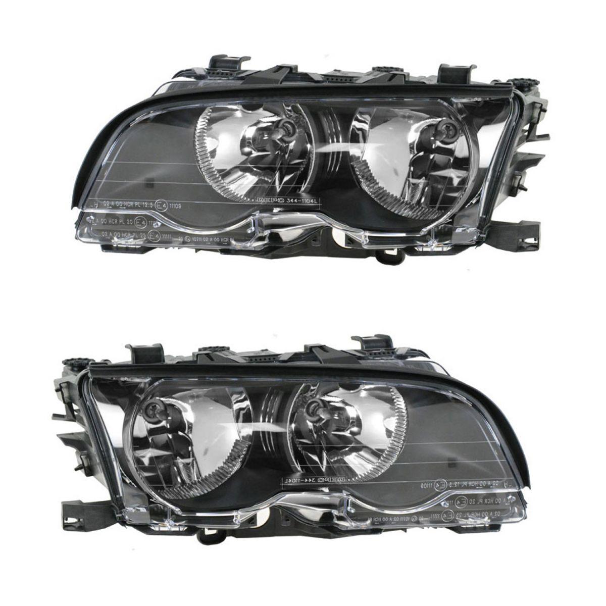 Headlight Headlamp Left & Right Pair Set NEW for BMW 3 Series (E46)