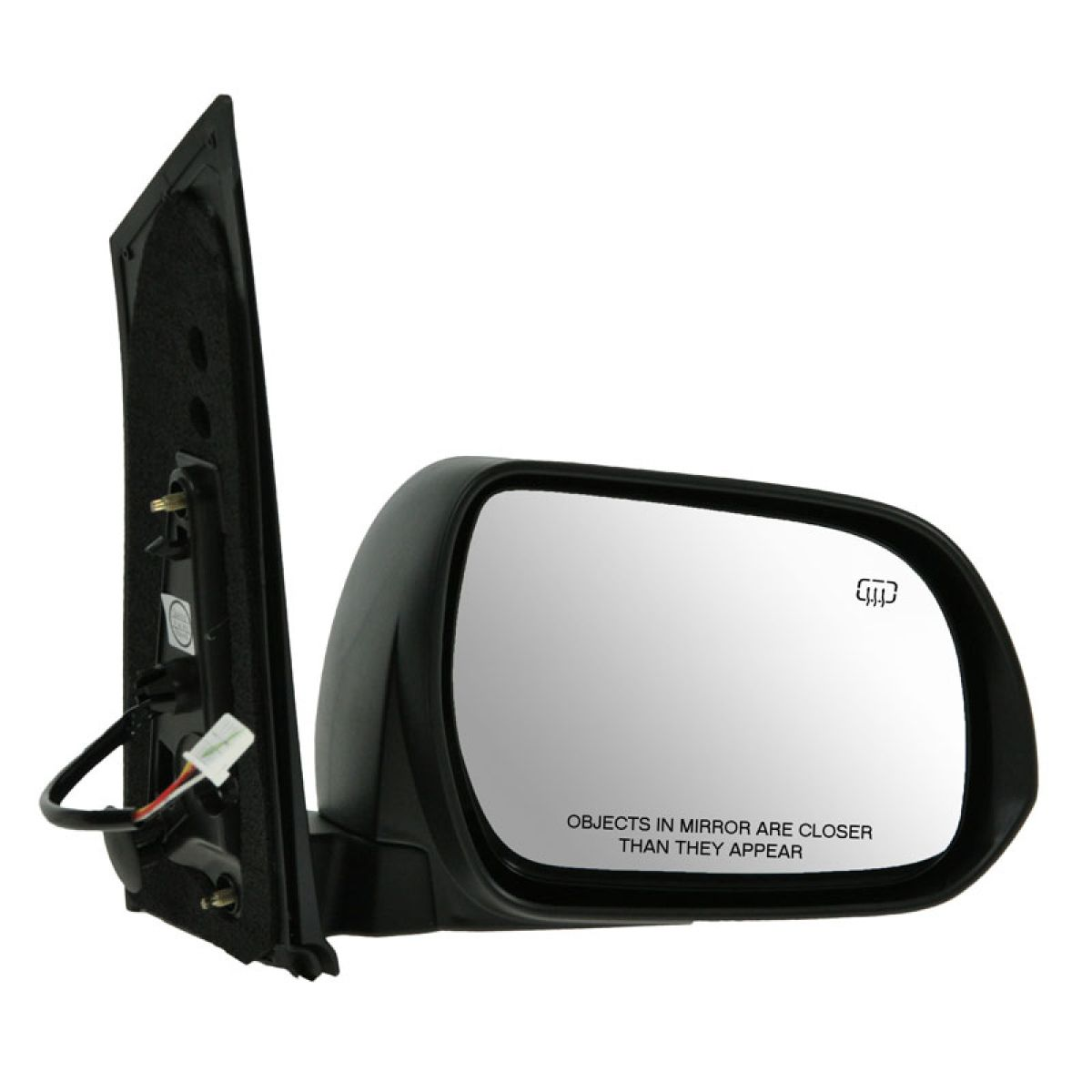 mirror power heated smooth black passenger side right rh for 11 12