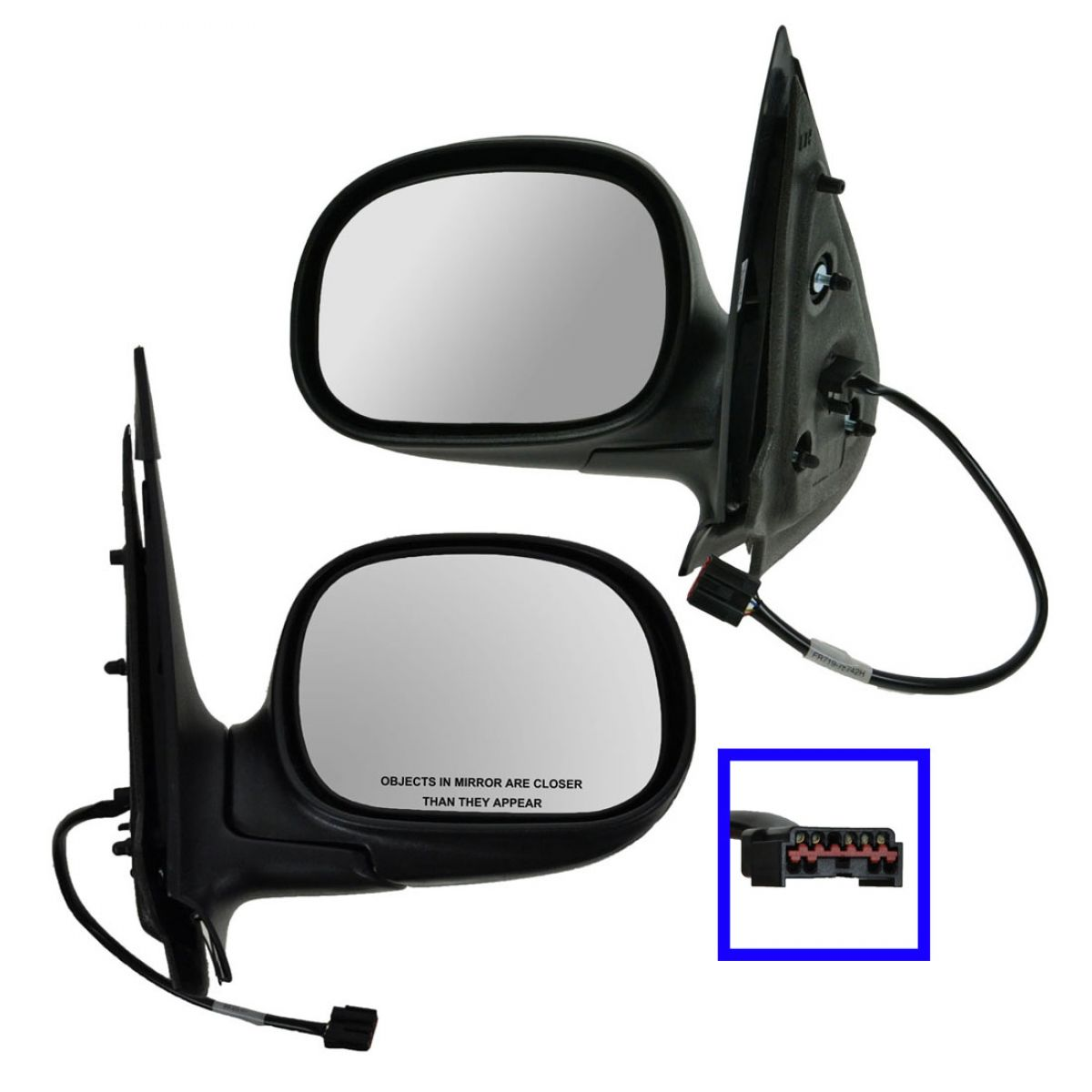 Chrome Power Side View Mirrors Left /& Right Pair Set of 2 for 1997 Expedition