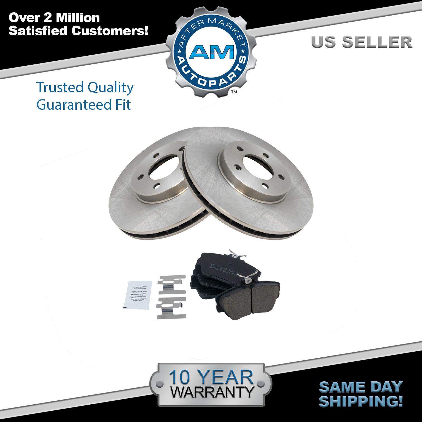 Front Disc Brake Pad & Rotor Kit Ceramic for Taurus Continental Cougar