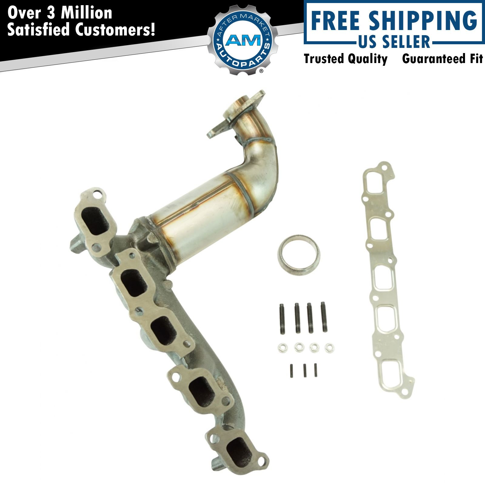 Engine Exhaust Manifold w/ Catalytic Converter Gaskets & Hardware Kit for  Hummer
