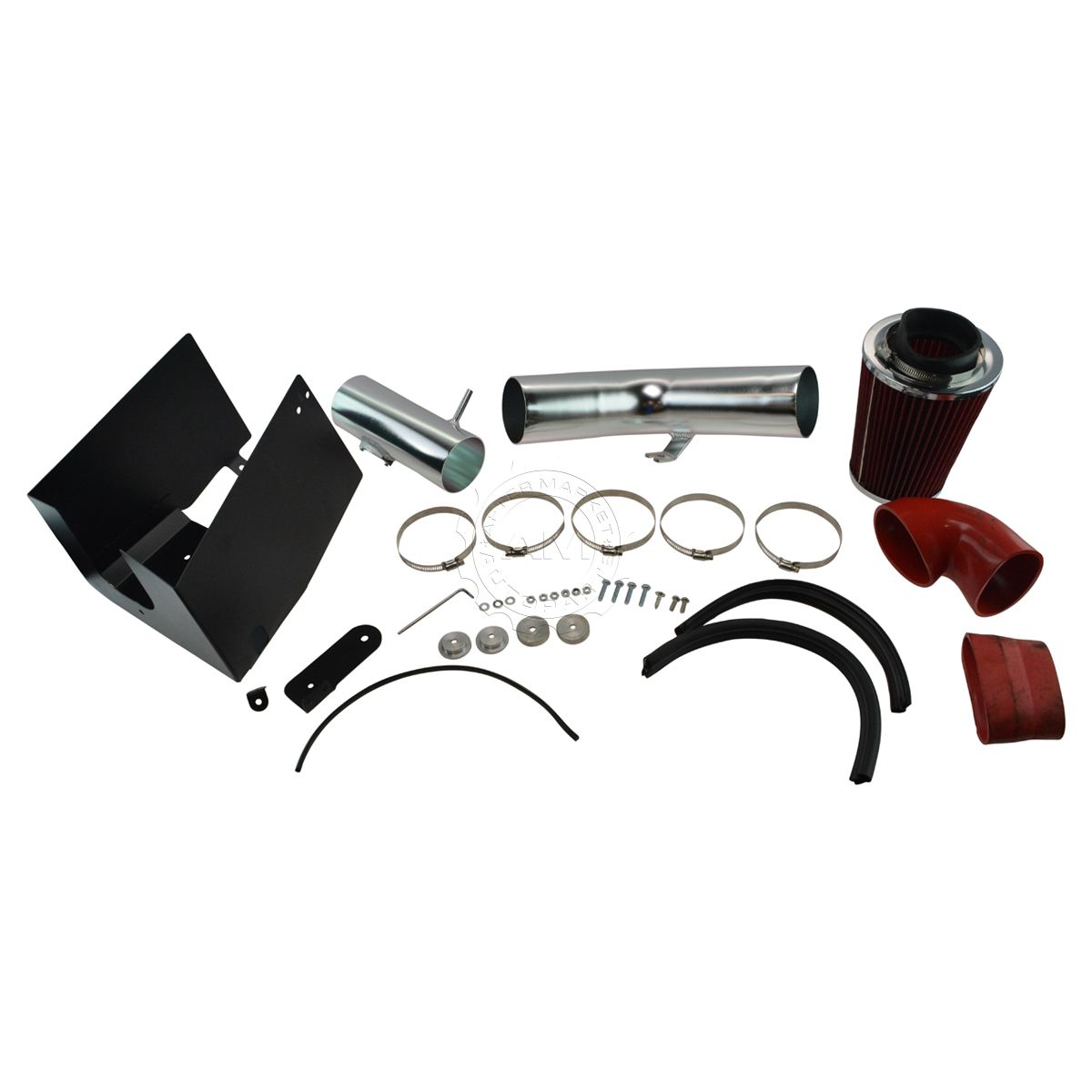 "3.5/"" BLACK Heat Shield Cold Air Intake Kit Filter For 05-08 F150 5.4L V8"