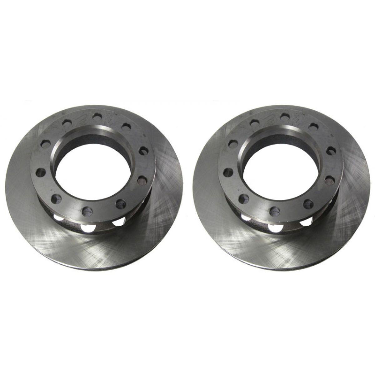 Rear disc brake rotor pair set for chevy gmc c3500 truck van 2wd 2x4 dually