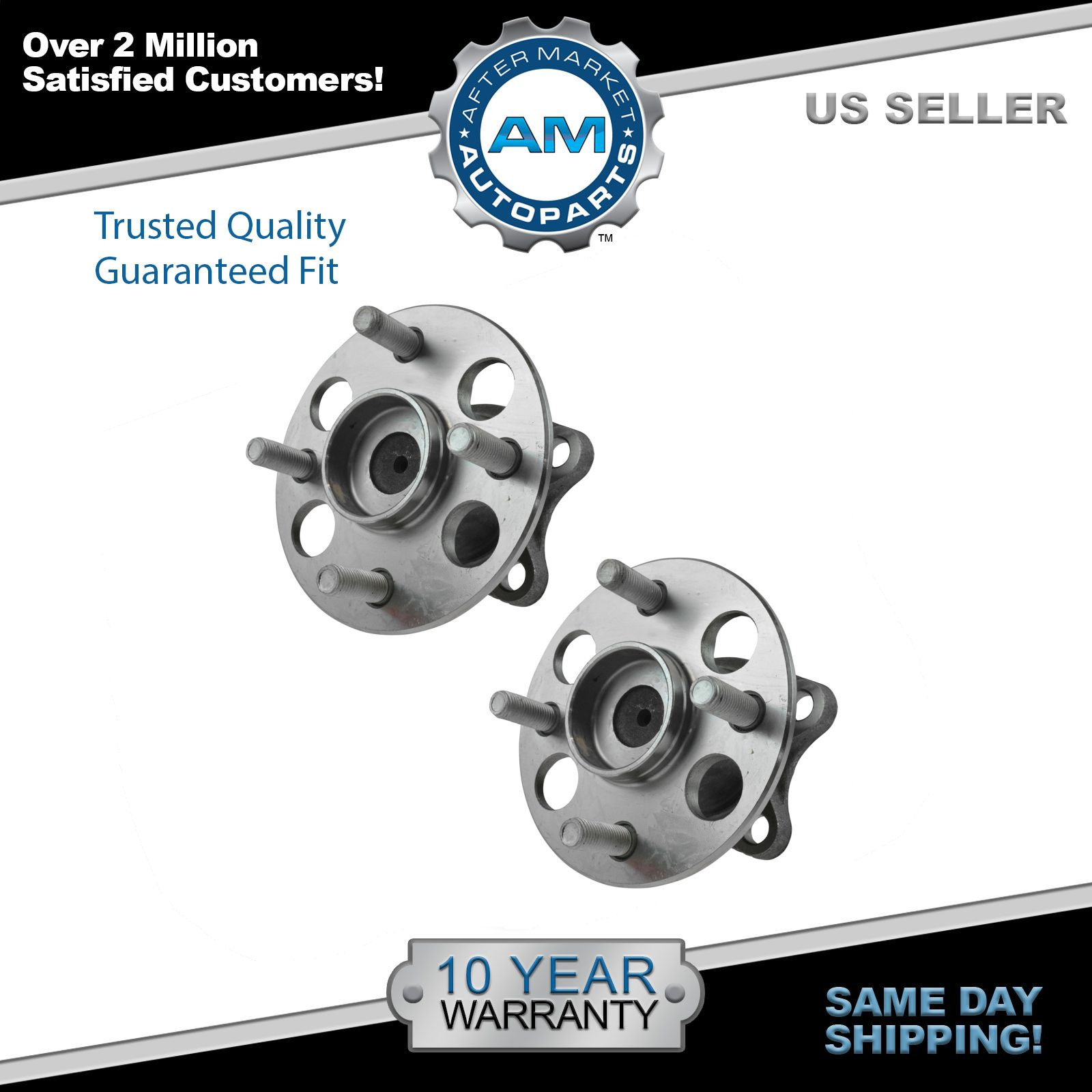Wheel Bearing & Hub Assembly Pair LH & RH Rear for Toyota Yaris Prius C