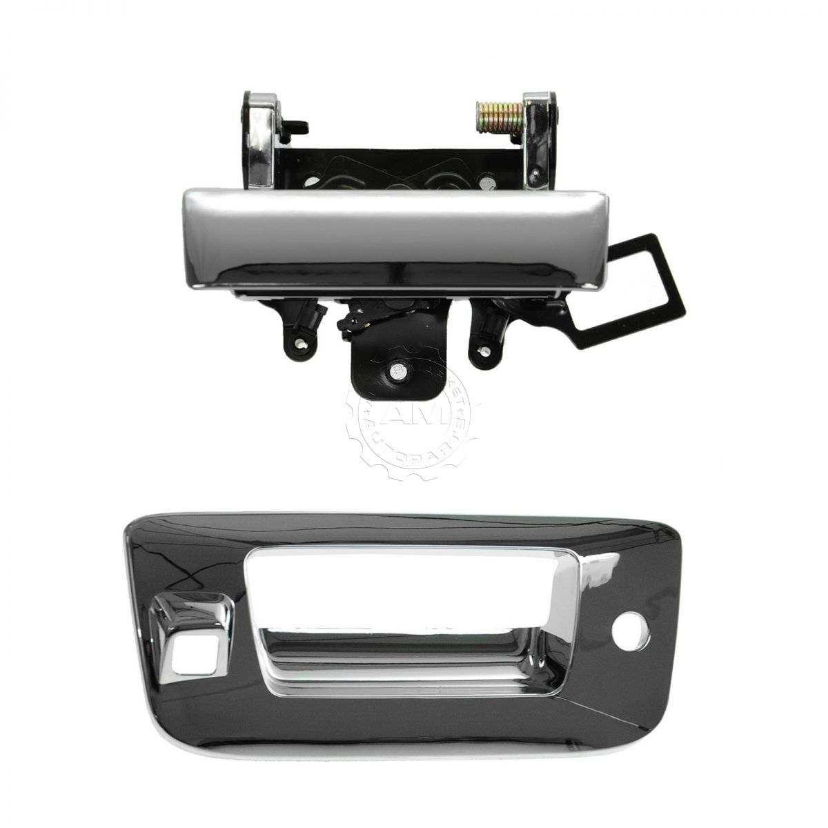 Outside Door Handle Tailgate Rear Exterior Trim//Bezel w// Lock and Camera Hole