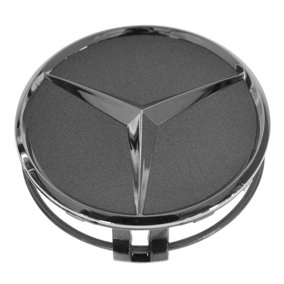 OEM 22040001257756 Wheel Cap Gray /& Chrome Center Set of 4 for Mercedes Benz