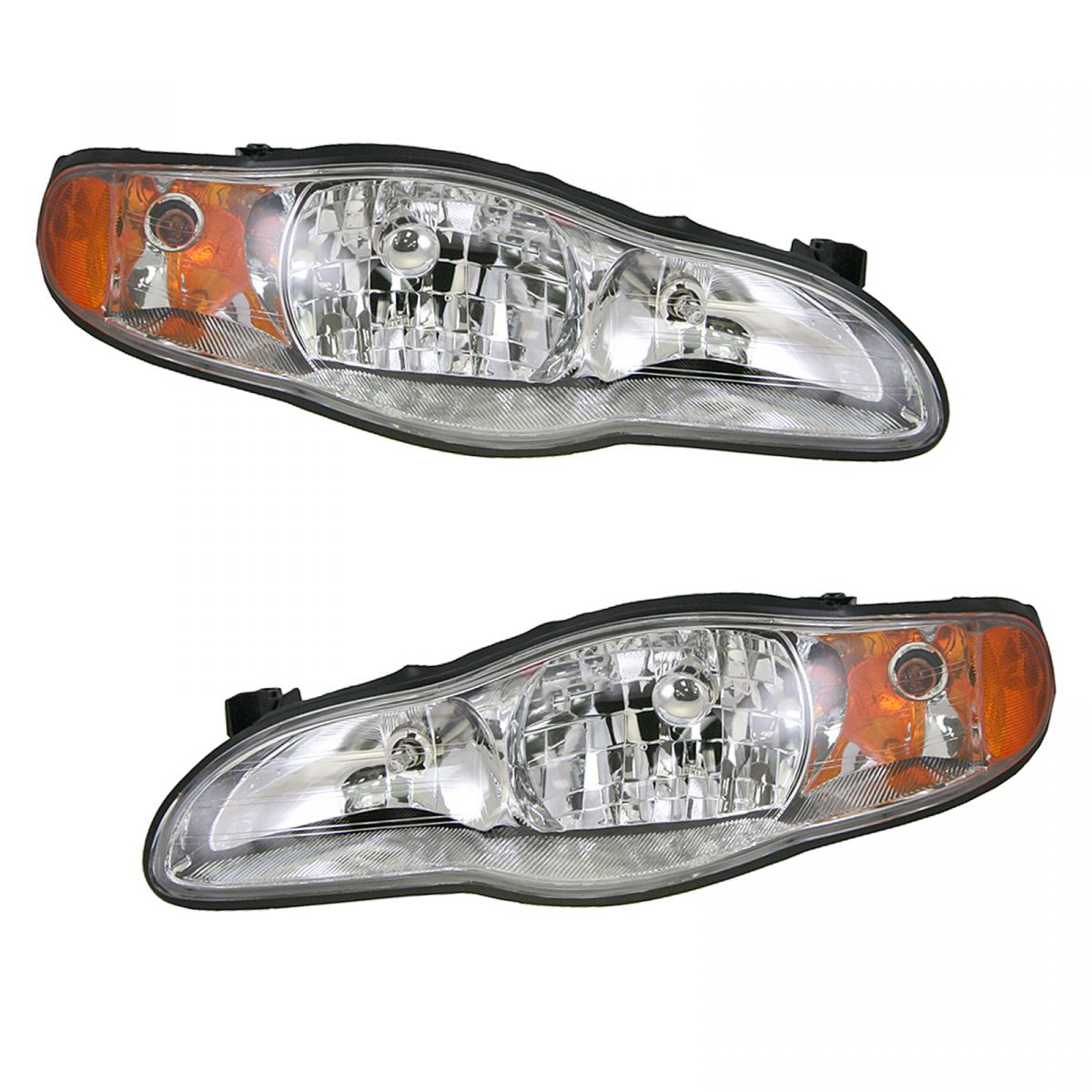 Headlights Headlamps Left & Right Pair Set NEW for 00-05 Chevy Monte Carlo