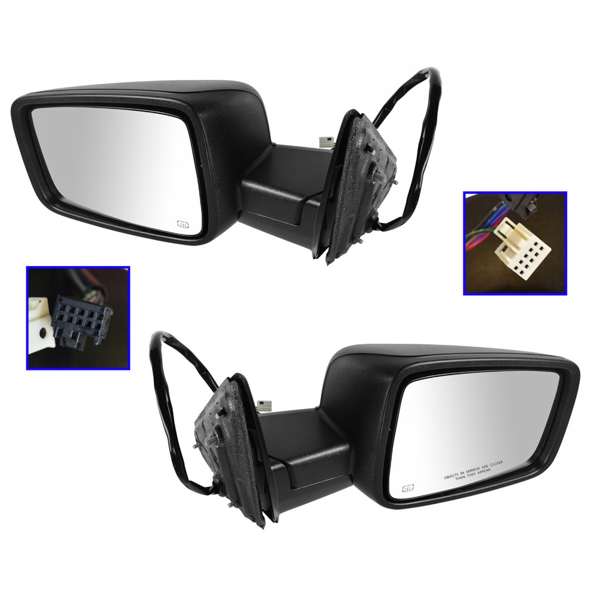 Power Heated Turn Signal Side View Mirrors Lh Amp Rh Pair
