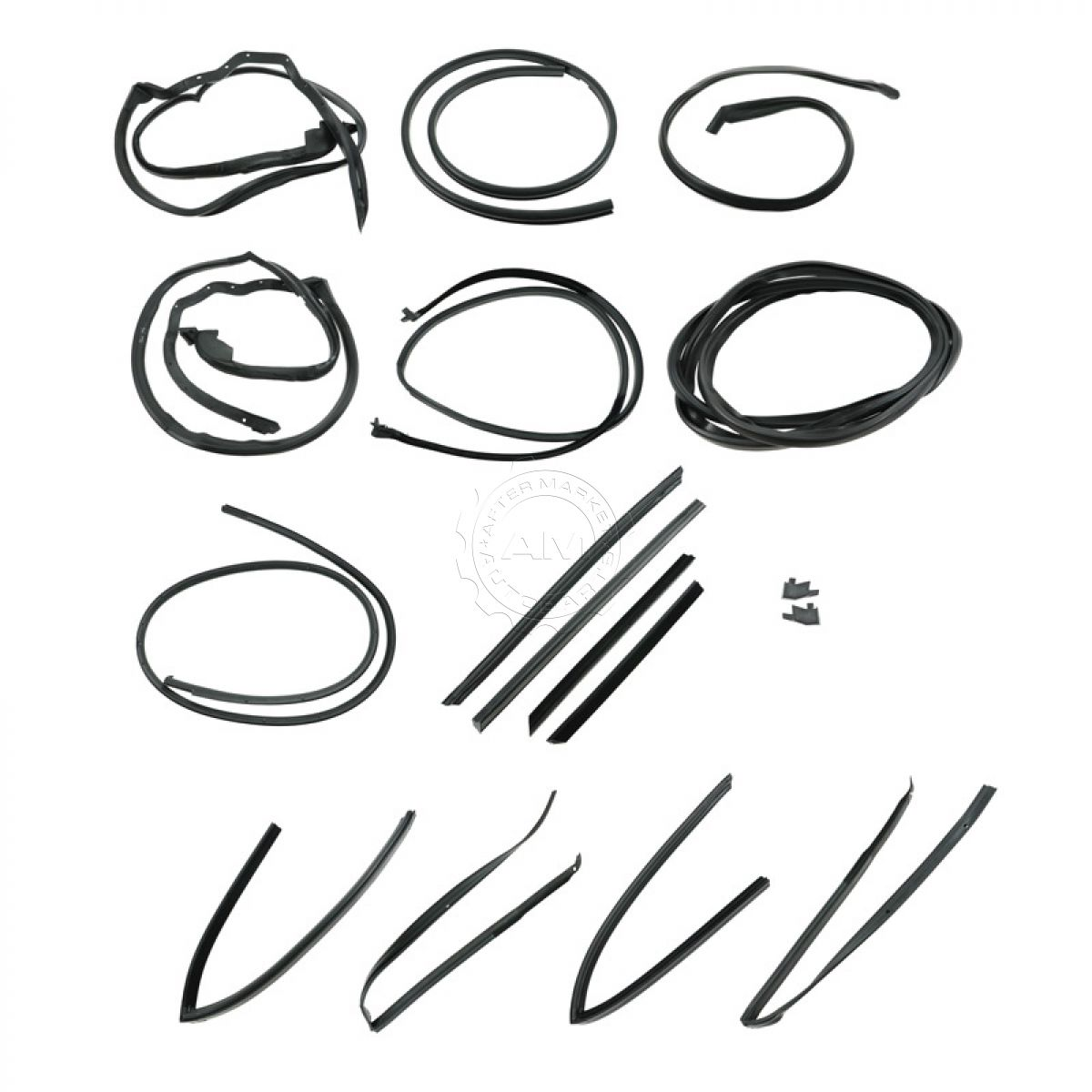 17 piece master seal weatherstrip kit for mercedes w107