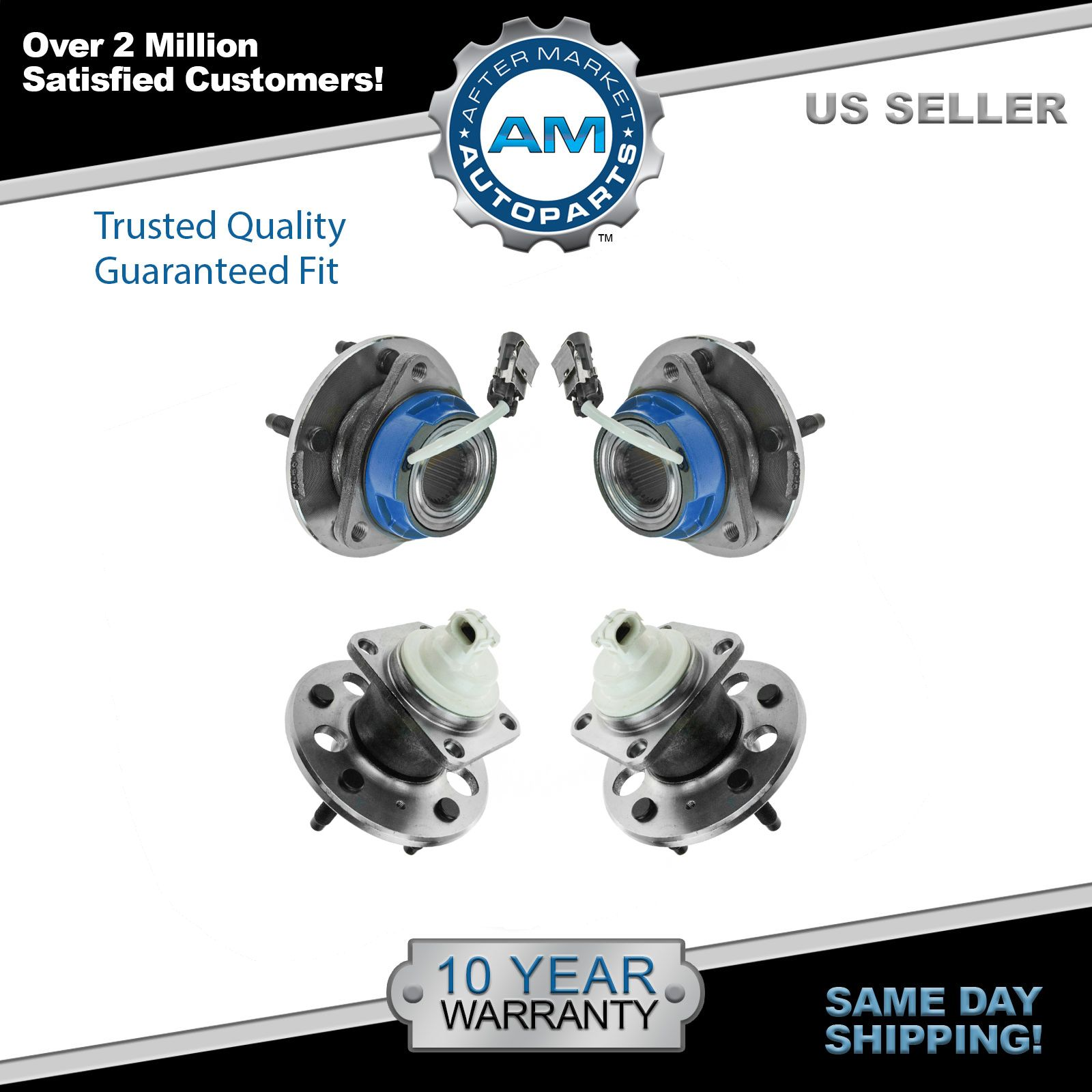 Left and Right Note: FWD 2004 fits Oldsmobile Alero Rear Wheel Bearing and Hub Assembly - Two Bearings Included with Two Years Warranty