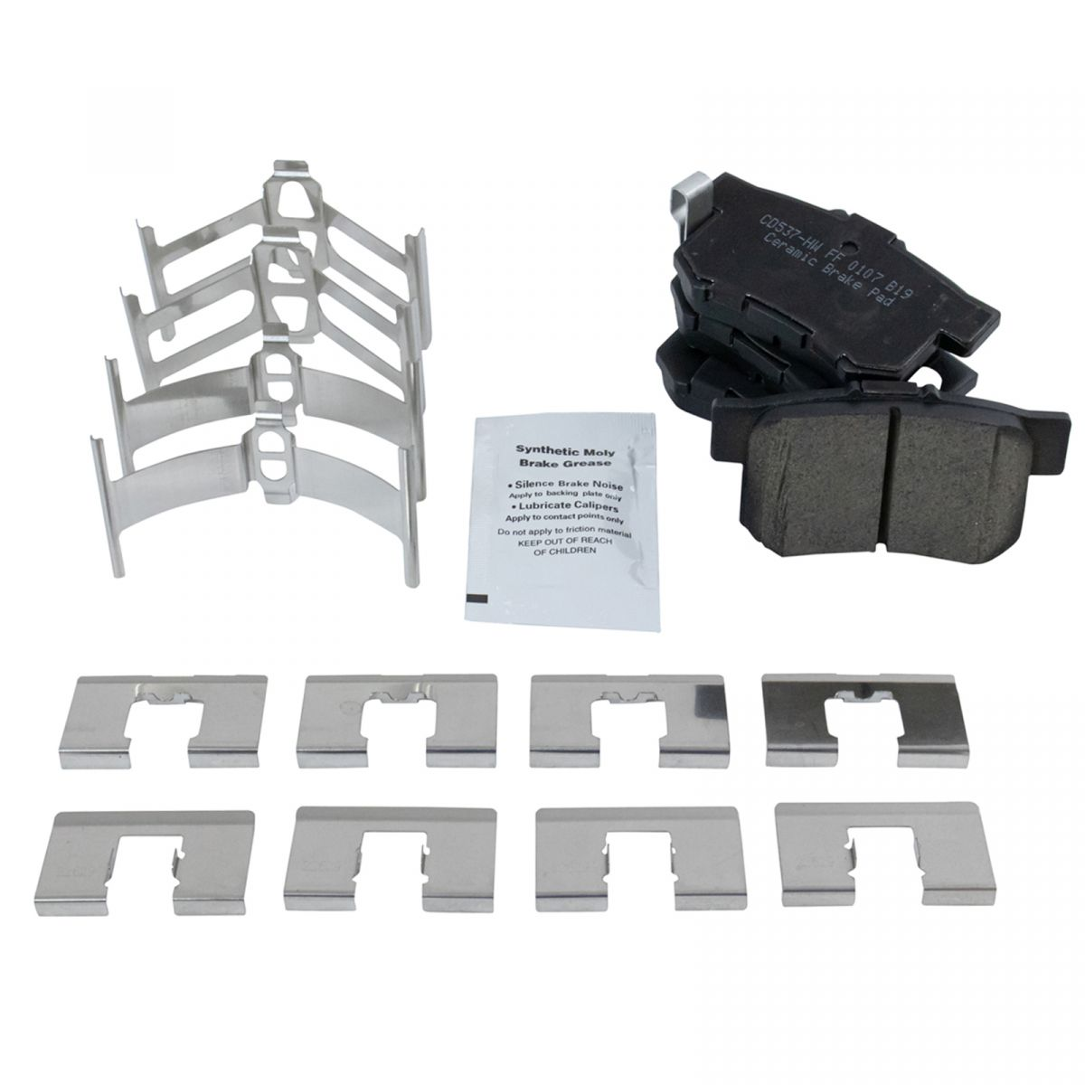 Rear Ceramic Disc Brake Pad & Rotor Kit For Honda Accord