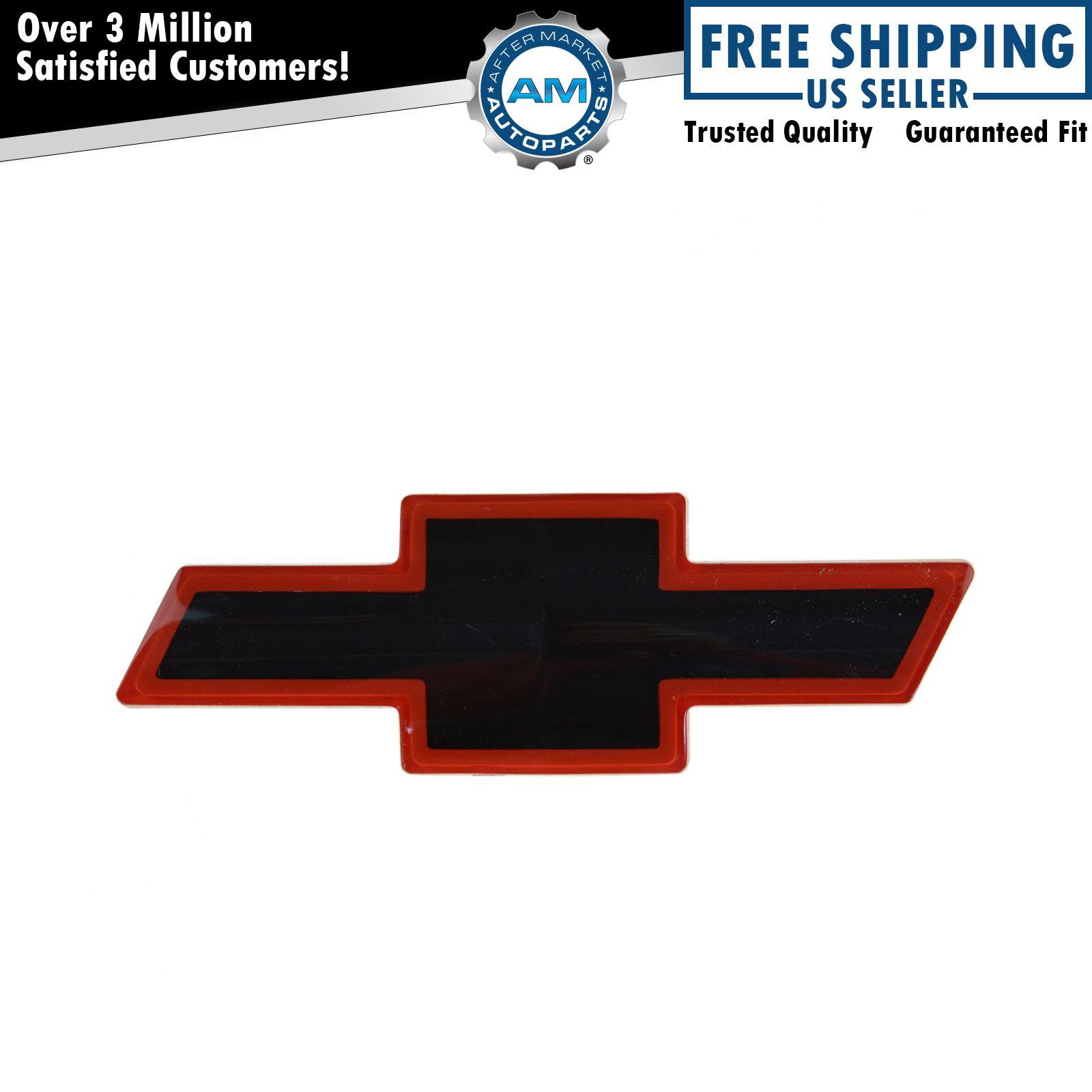 All Chevy black chevy symbol : OEM 12543000 Grille Mounted Black & Red Bowtie Emblem for Chevy | eBay