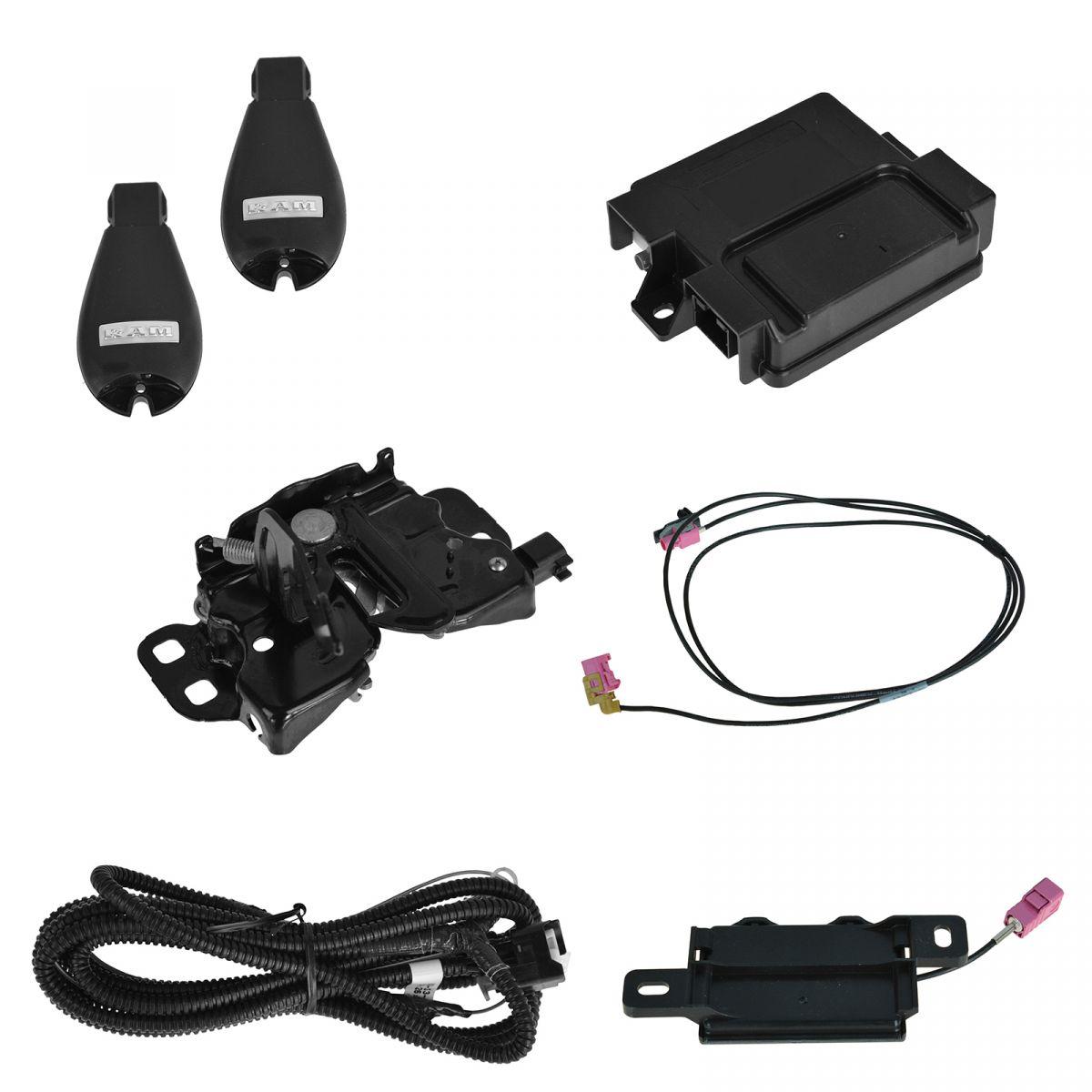 09-18 RAM 1500 2500 FRONT LEFT EXTERIOR DOOR HANDLE BLACK OEM MOPAR 55112383AD