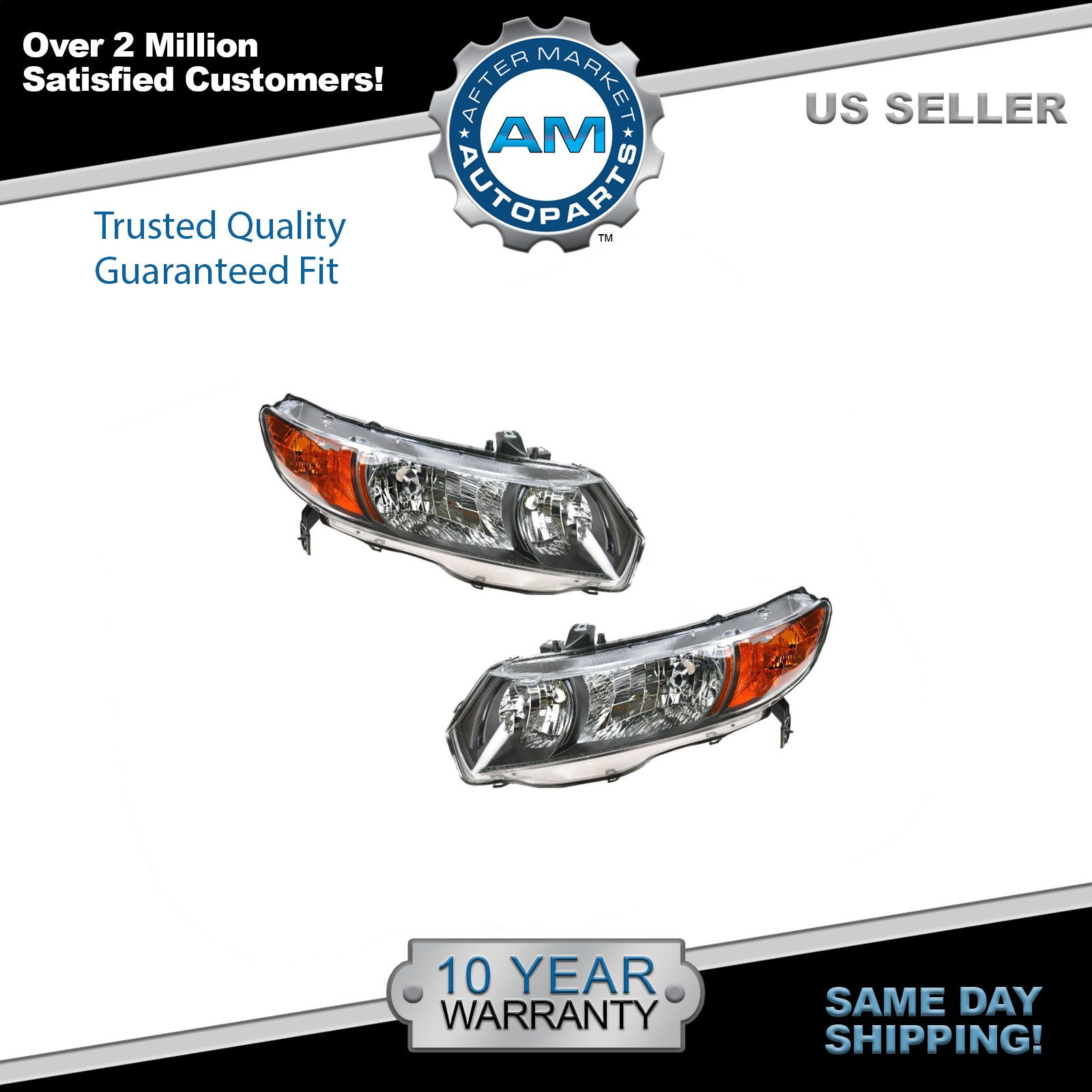 Depo 06-09 Honda Civic 2D Coupe Auto Trans Replacement Left Driver Headlight New