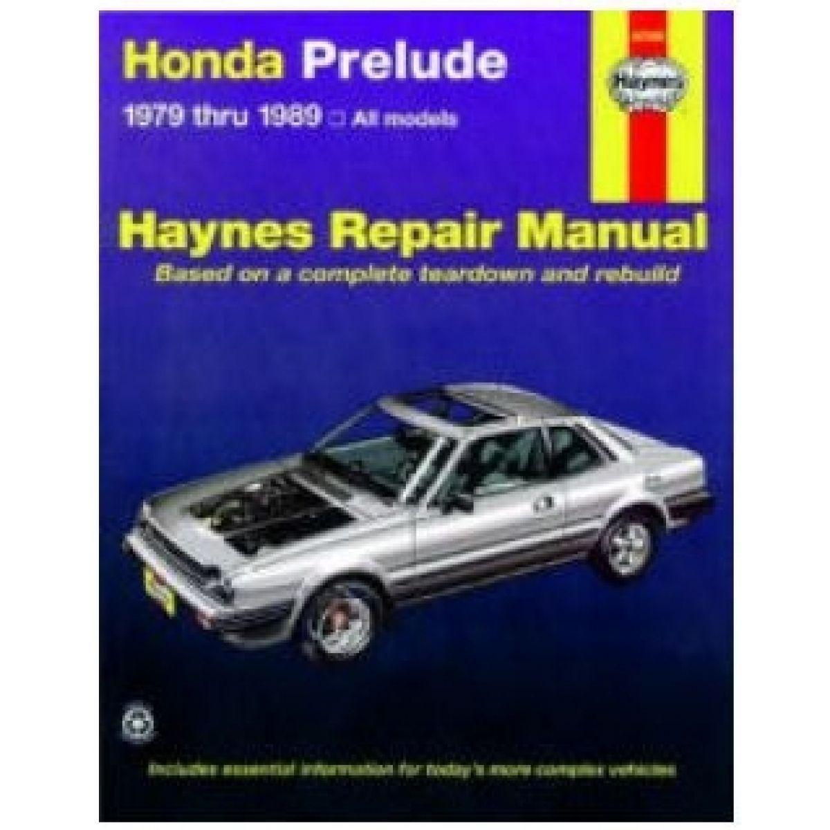 haynes repair manual for honda prelude 79 85 86 87 88 89 ebay rh ebay com 1997 honda prelude manual swap 1997 honda prelude manual swap