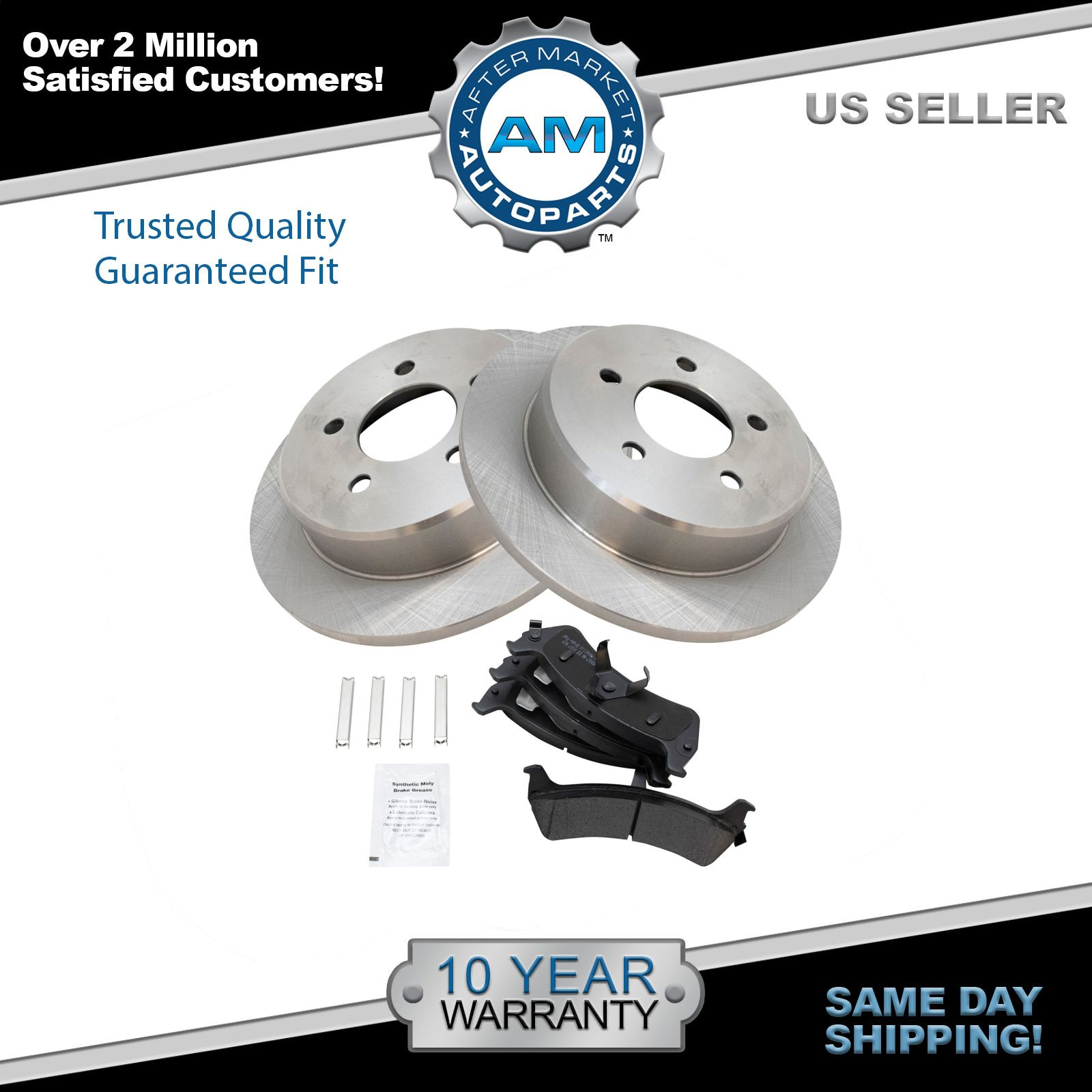 Brakes And Rotors >> Details About Rear Posi Semi Metallic Brake Pads And Rotors Kit Set For Ford Mercury